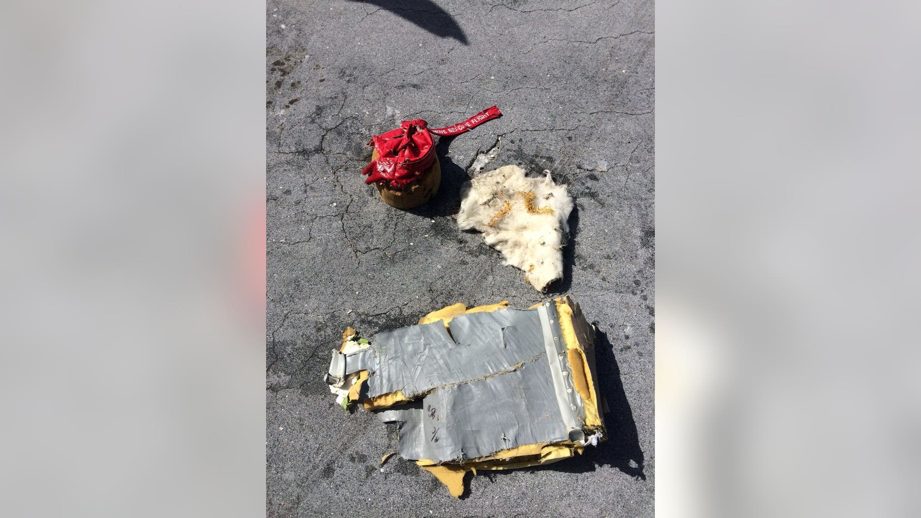 The debris found Tuesday were confirmed to be materials that were part of the MU-2B airplane that went missing a day before. (United States Coast Guard)