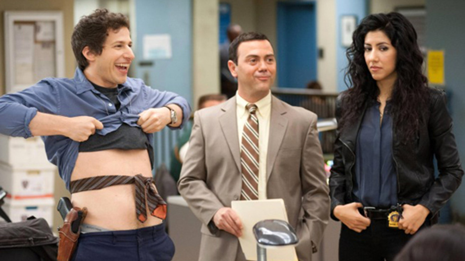 'Brooklyn Nine-Nine' is a new single-camera workplace comedy on FOX about what happens when a hotshot detective (Andy Samberg, left) gets a new Captain with a lot to prove.