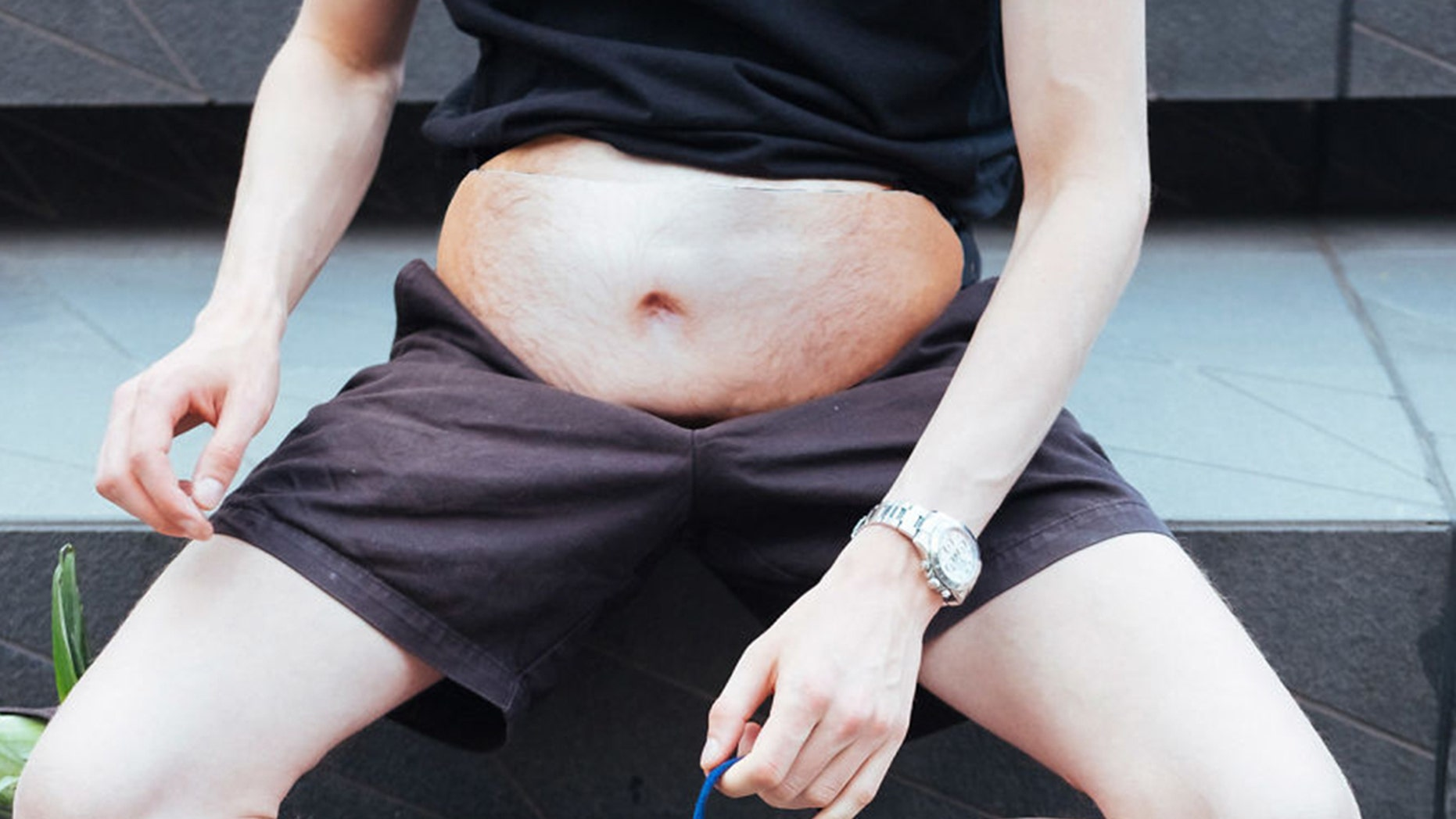 """The creator of the Dad Bag said he was """"desperate to have a dad bod"""" but didn't want to suffer any health consequences."""