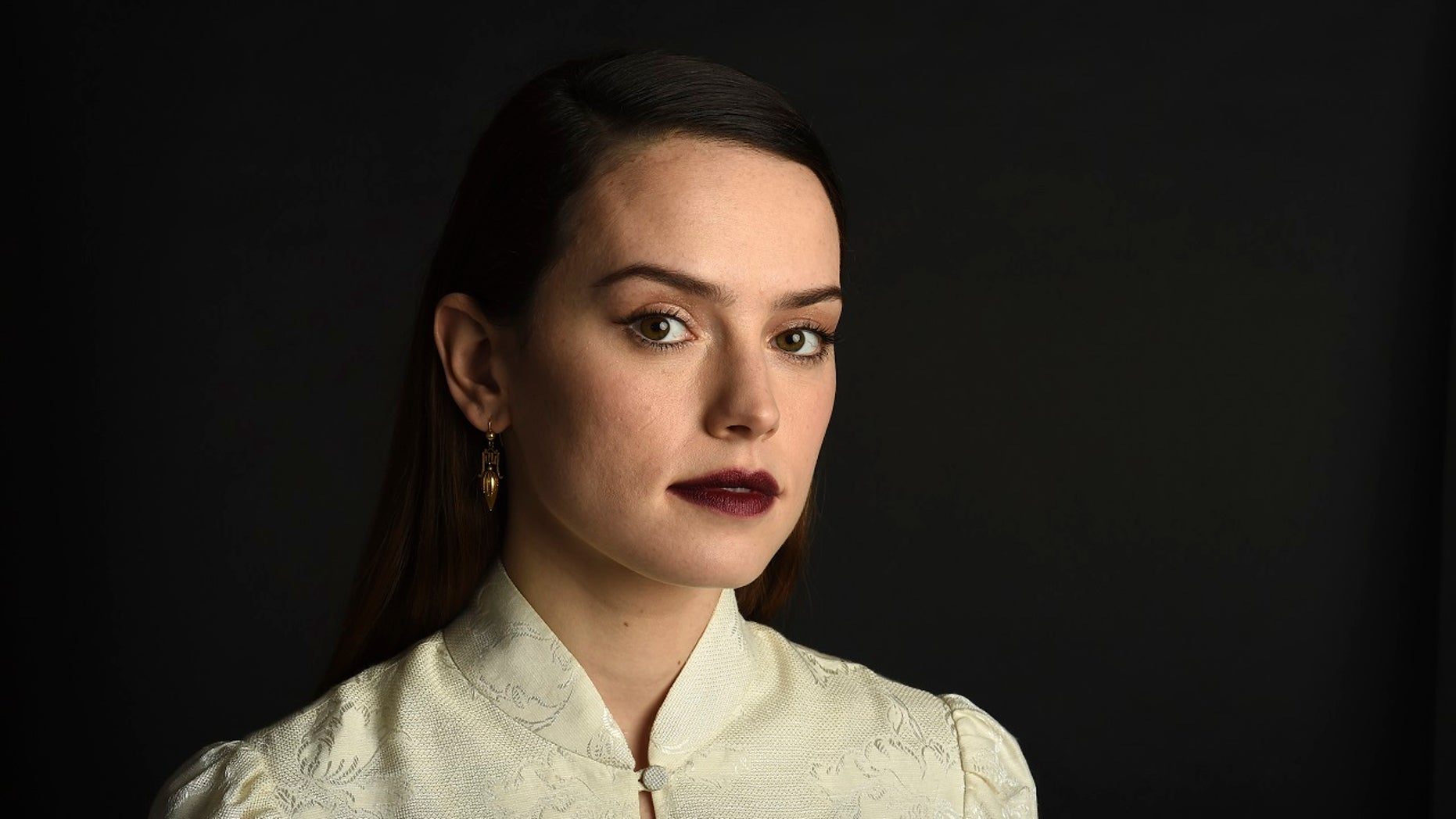 "Daisy Ridley plays Rey in ""Star Wars: The Last Jedi."""