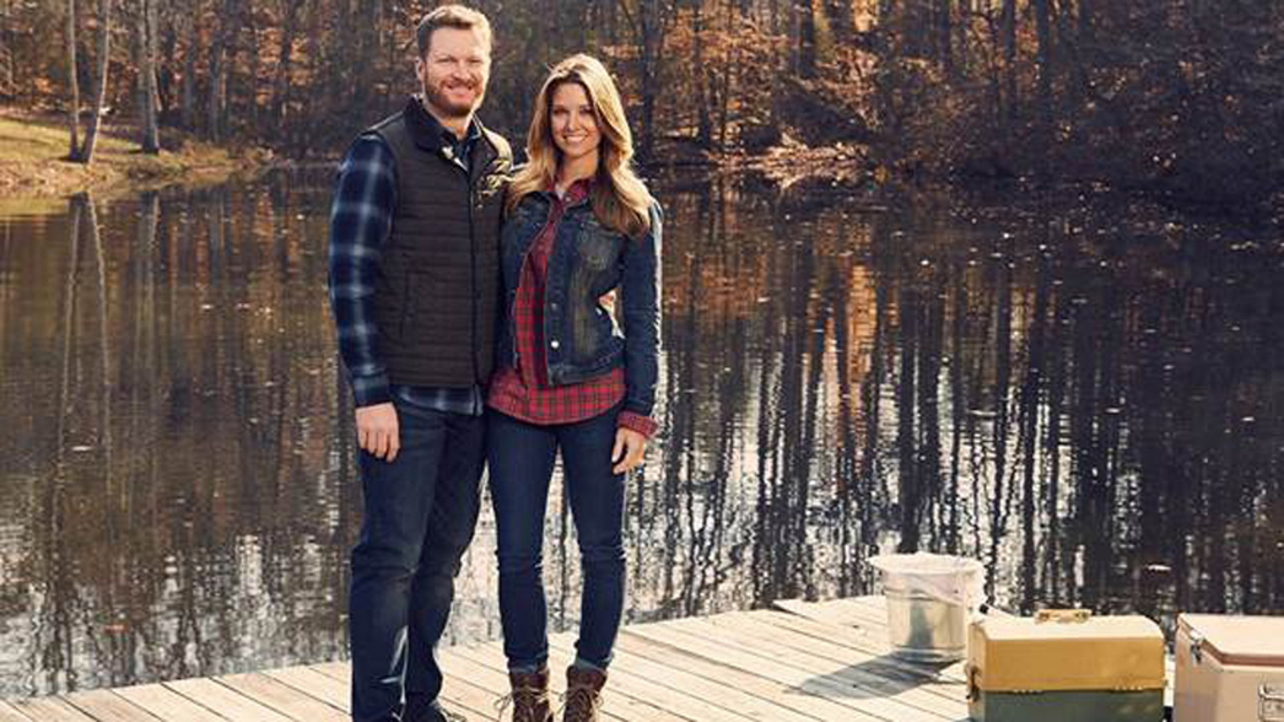 Dale Earnhardt Jr. and his wife Amy.