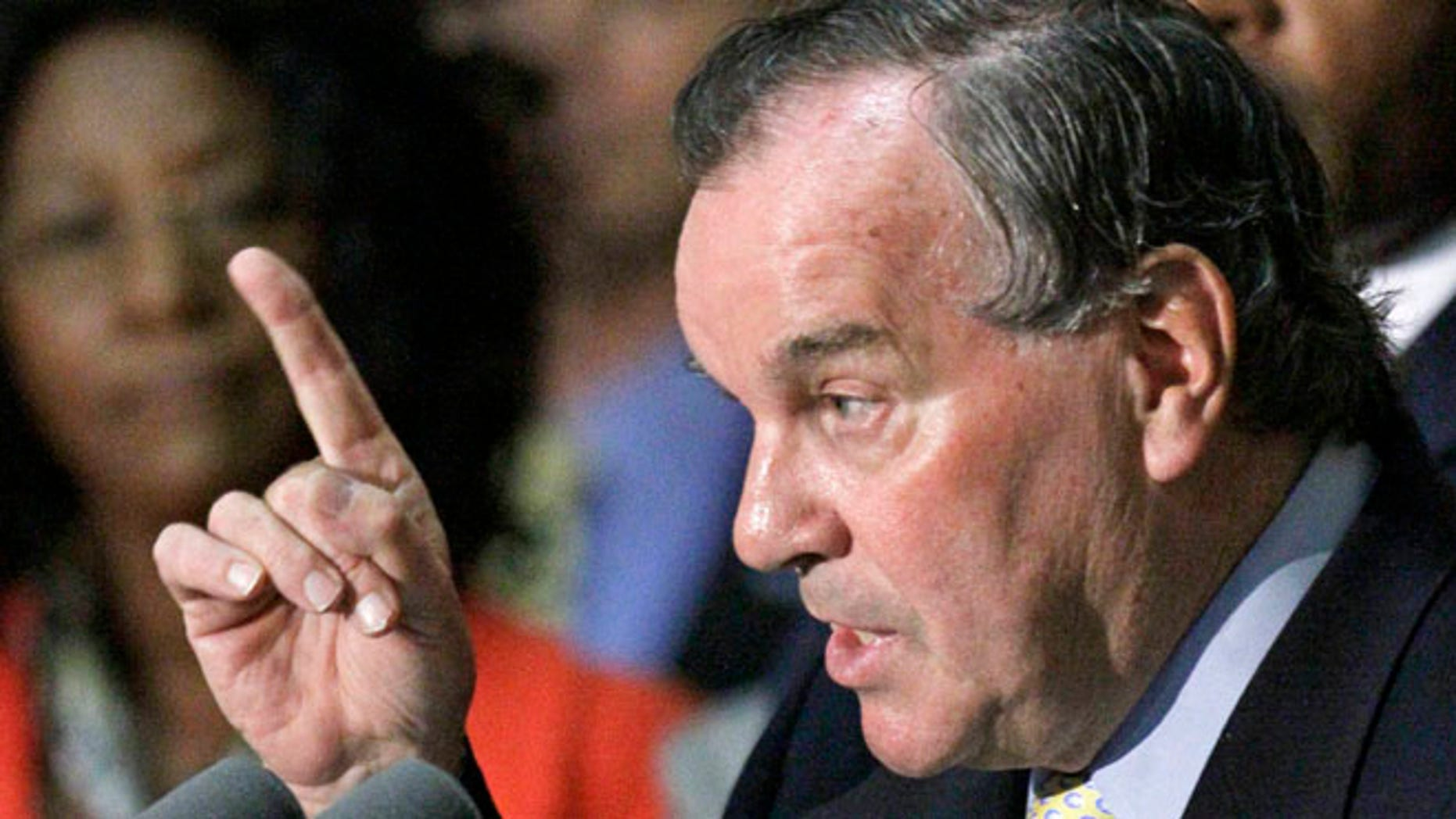 July 1, 2010:, Chicago Mayor Richard Daley speaks during a news conference, in Chicago.