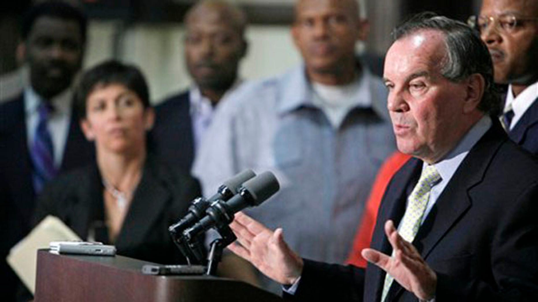 Chicago Mayor Richard Daley speaks during a news conference July 1 in Chicago. (AP Photo)