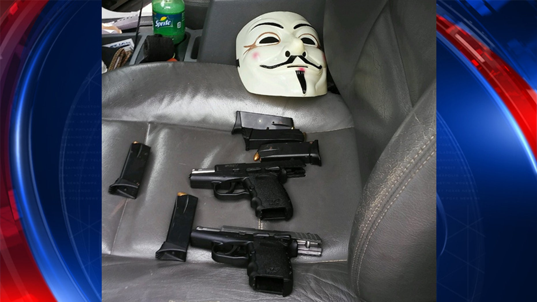 A man was arrested after showing up to Dallas PD Southwest patrol with a mask, guns and drugs in his vehicle and threatening to shoot.