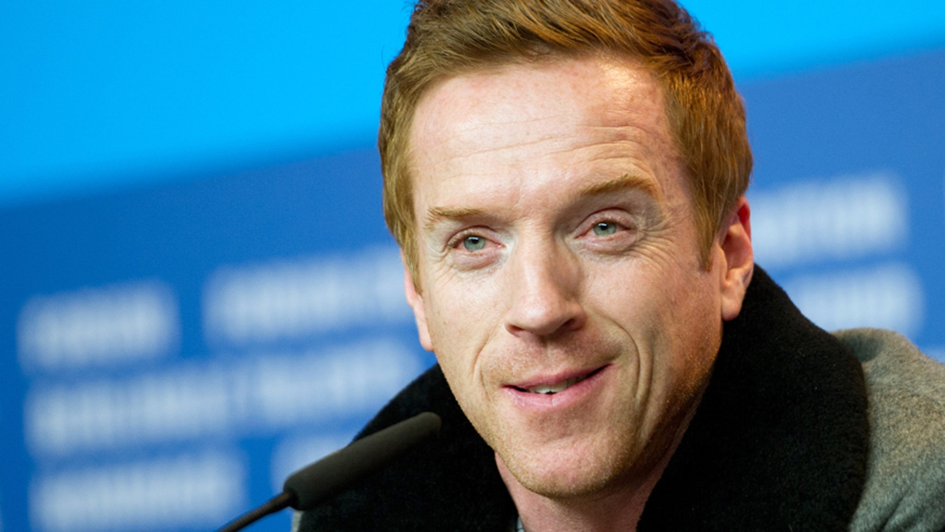 Actor Damian Lewis attends a news conference to promote the movie 'Queen of the Desert' in competition at the 65th Berlinale International Film Festival, in Berlin February 6, 2015.