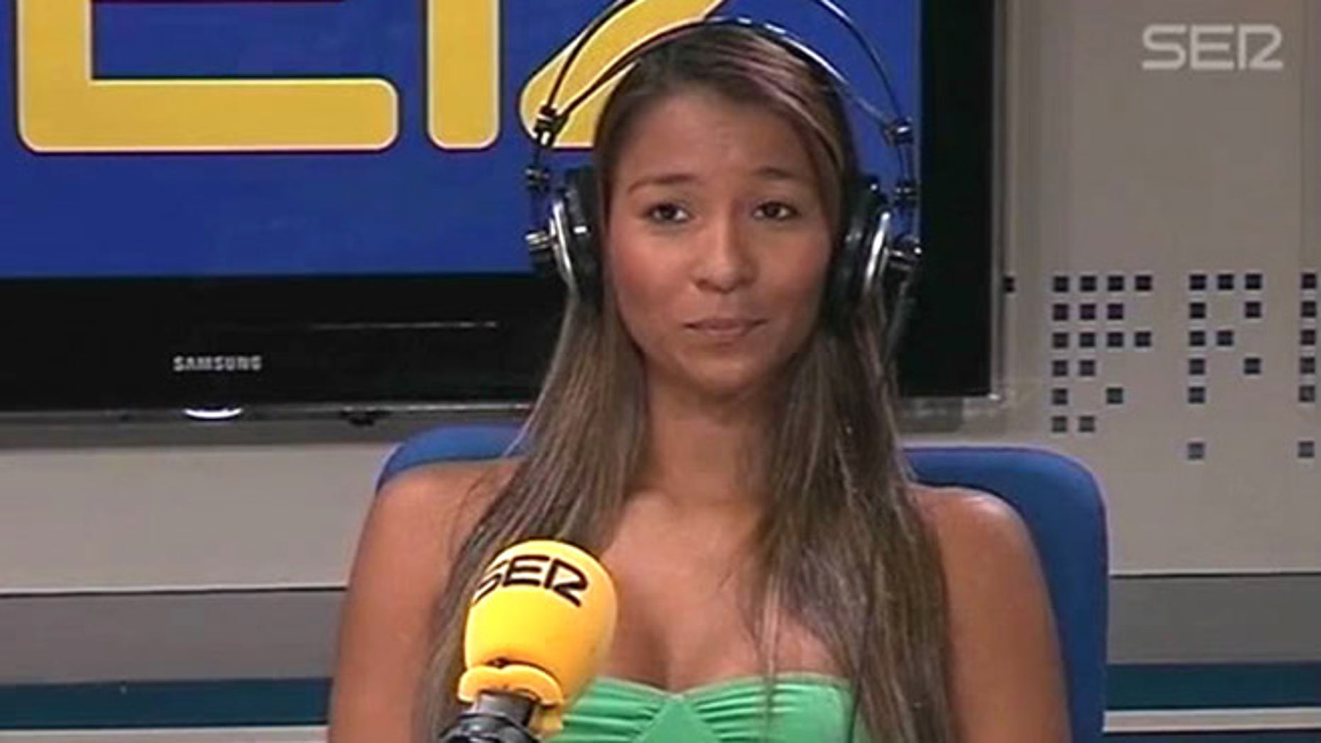 May 4, 2012: A frame grab taken from the Spanish radio station Cadena SER website shows Dania Londono Suarez during an interview at an undisclosed location.