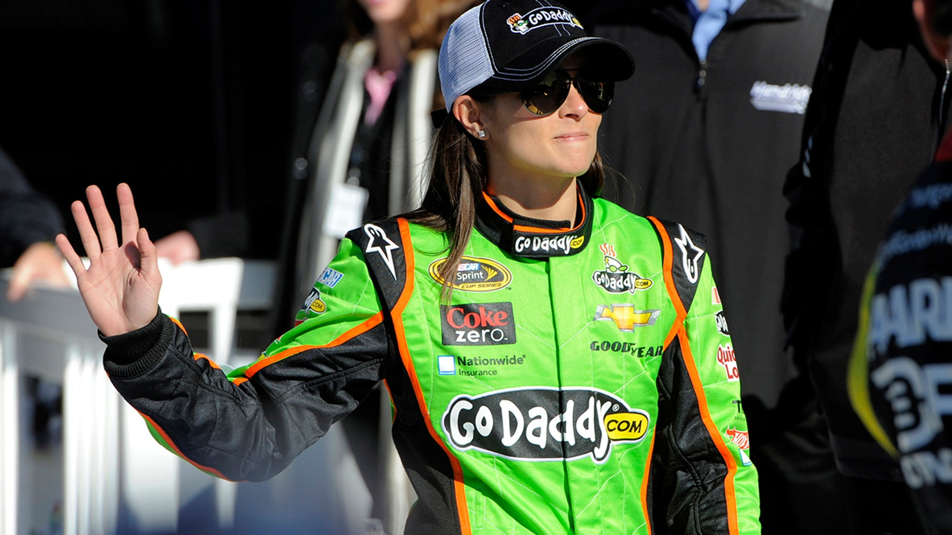 """NASCAR driver Danica Patrick posted a photo of her """"real"""" vs. """"produced"""" abs"""