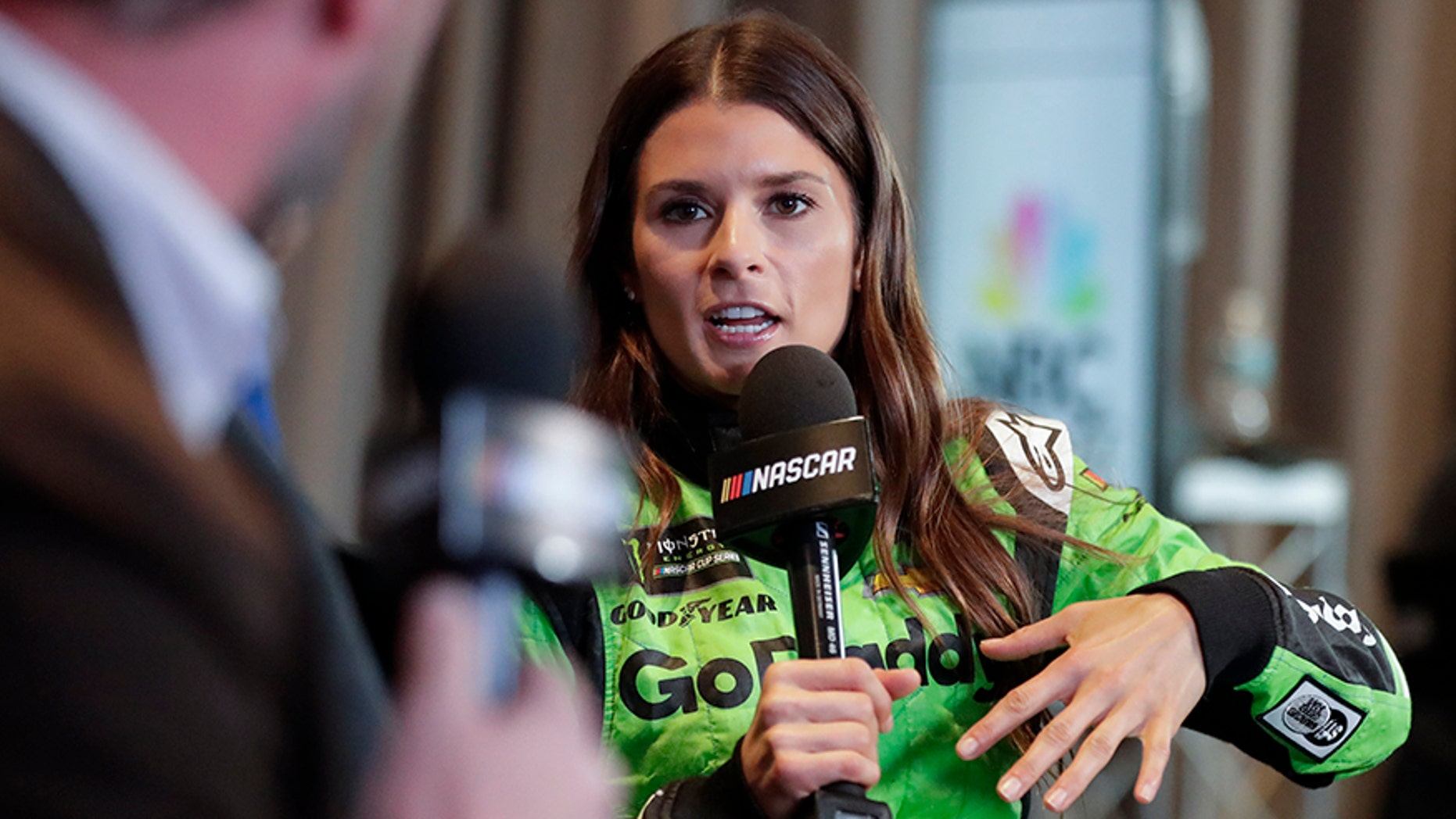 Danica Patrick let slip some big news while speaking to reporters at media day for the Daytona 500 on Wednesday.