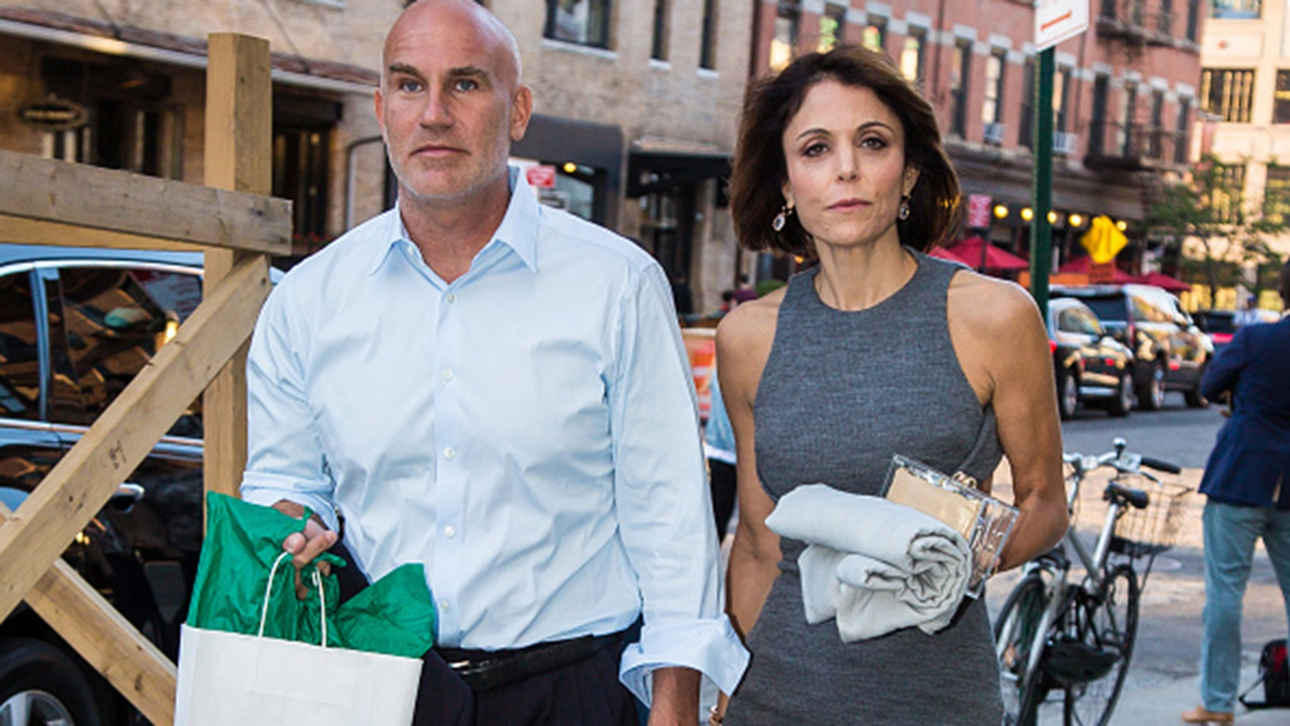 Bethenny Frankel and Dennis Shields are seen leaving SoHo House on June 14, 2016 in New York, New York.  (Alessio Botticelli/GC Images)