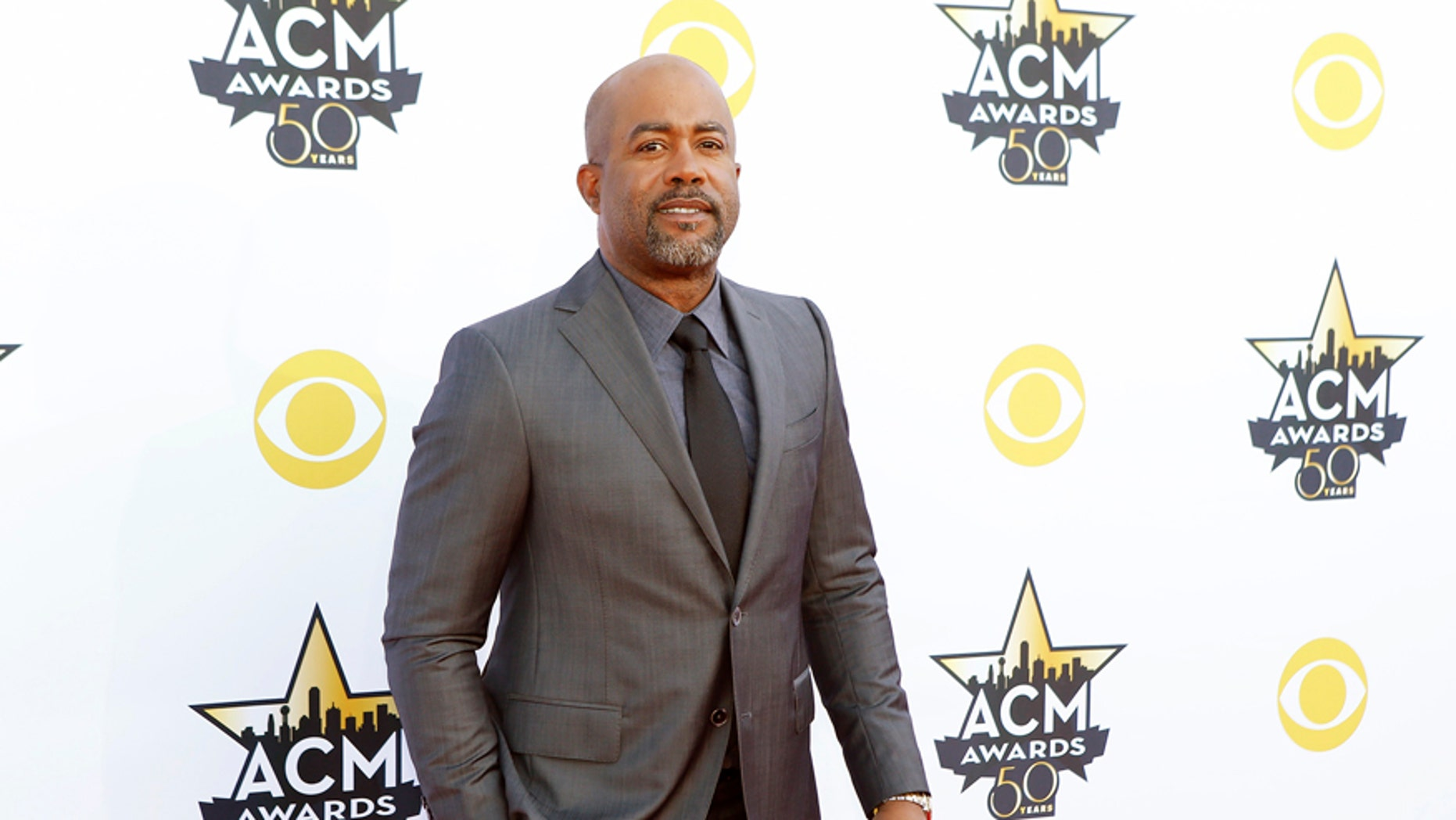 April 19, 2015. Singer Darius Rucker arrives at the 50th Annual Academy of Country Music Awards in Arlington, Texas.