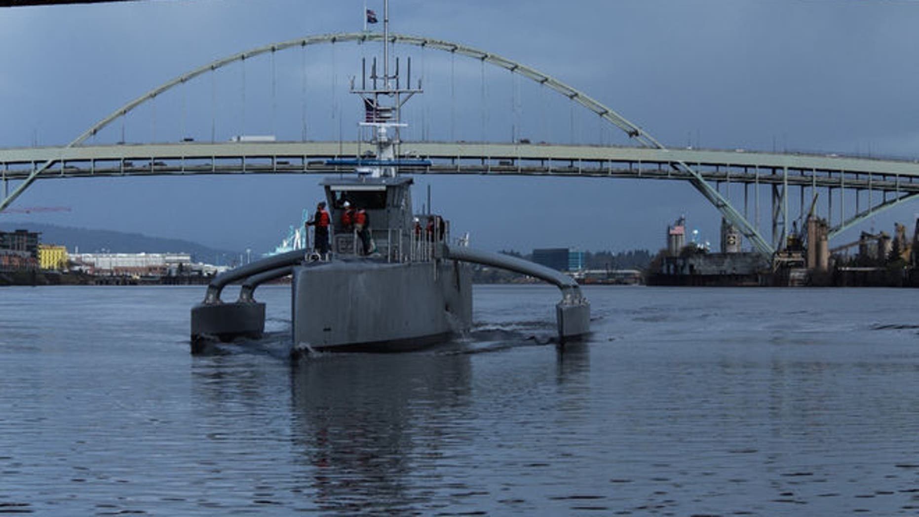 The world's first unmanned ship completed its first performance tests, and is set to join the US Navy in 2018 to hunt enemy submarines lurking in the deep.