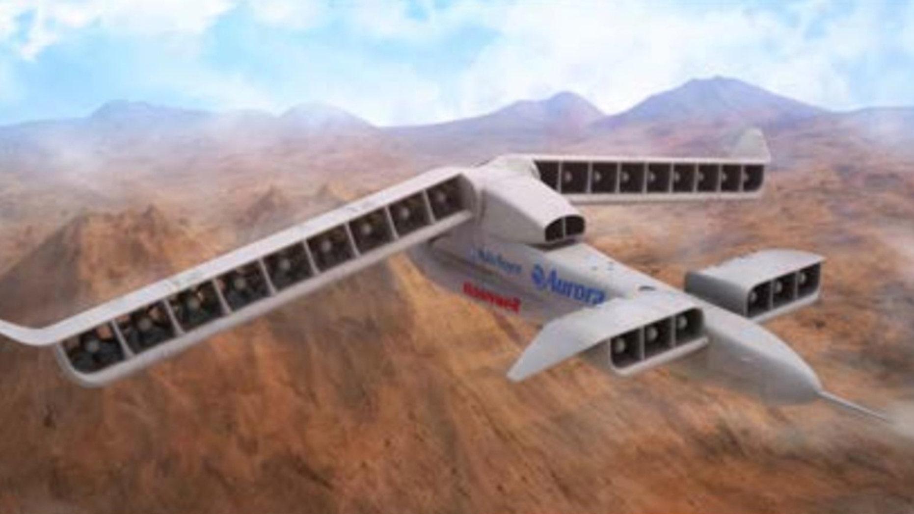 Aurora's Lightning Strike design for DARPA's Vertical Takeoff and Land ing Experimental Plane (VTOL X - Plane) program (Aurora Flight Sciences).