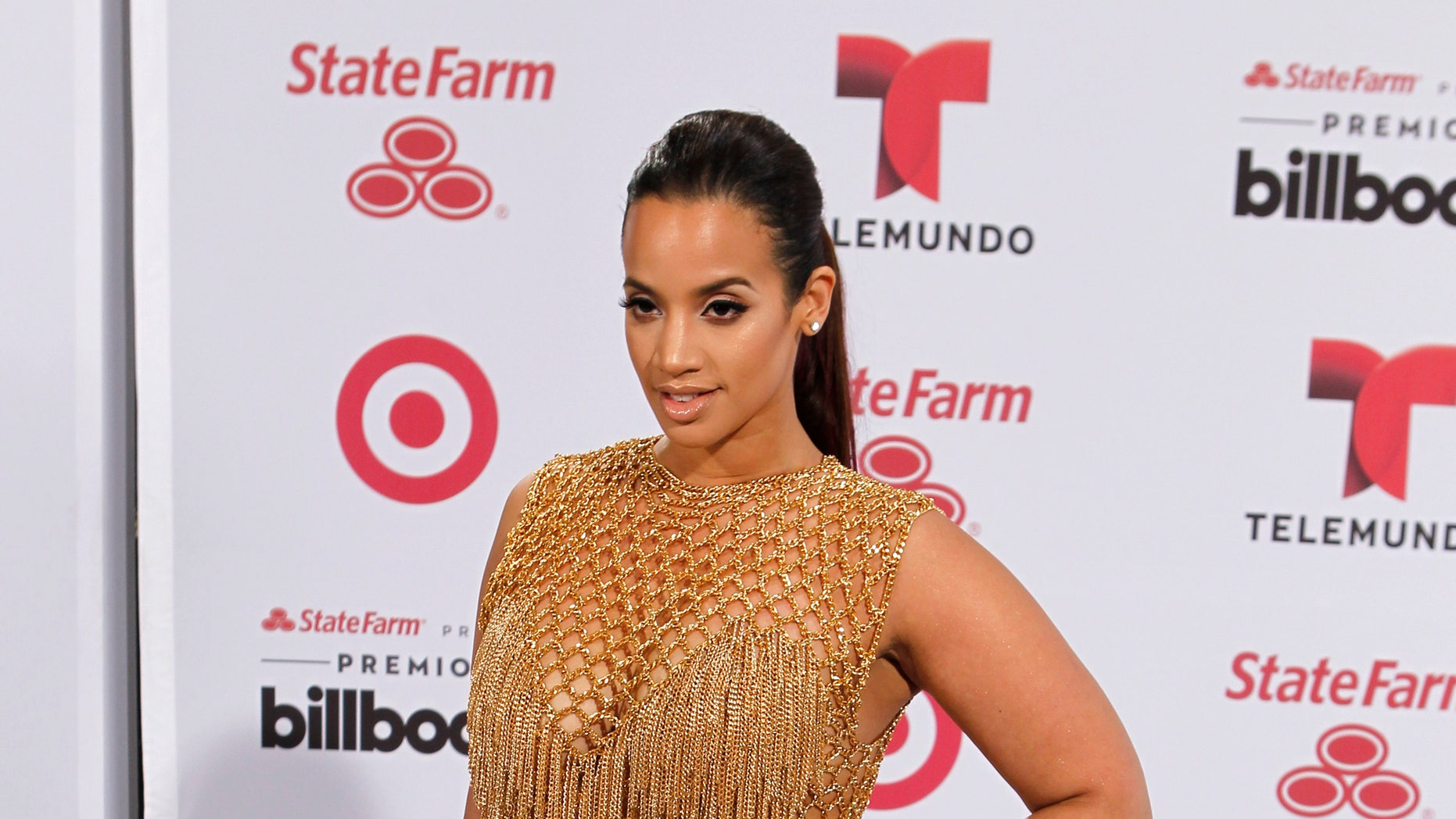 Actress Dascha Polanco arrives at the 2015 Latin Billboard Awards in Coral Gables, Florida April 30, 2015. REUTERS/Joe Skipper - RTX1B1IQ