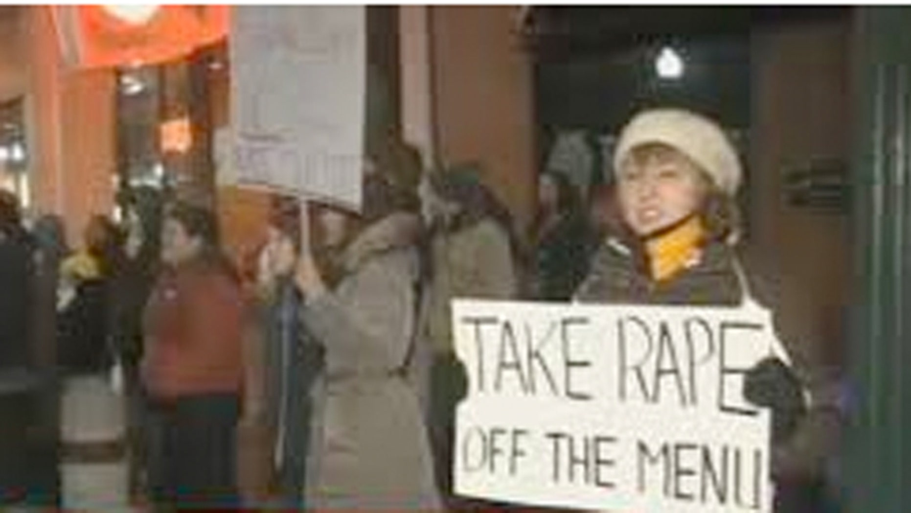 Over the weekend, some 100 protestors gathered outside Daiquiri Factory to protest the bar's Date Grape Koolaid drink.