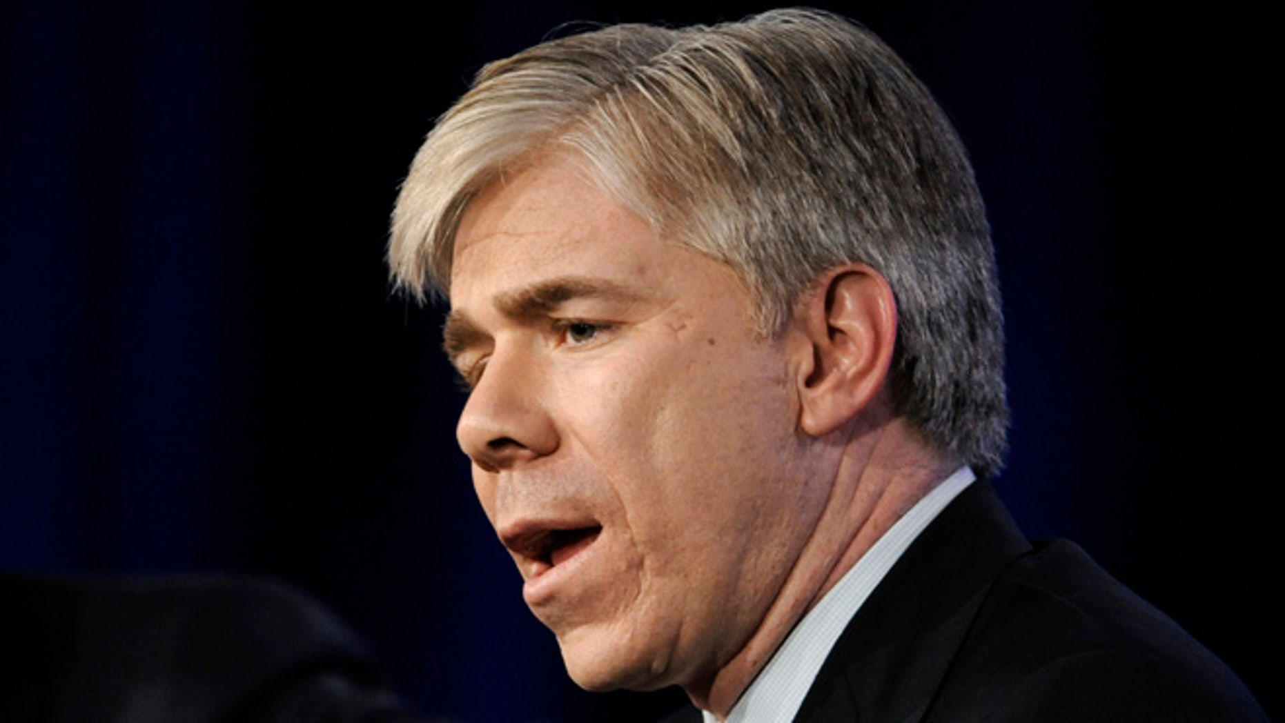 """Meet the Press"" host David Gregory participates in the panel for NBC News during the NBC Universal sessions at the Television Critics Association winter press tour in Pasadena, Calif."