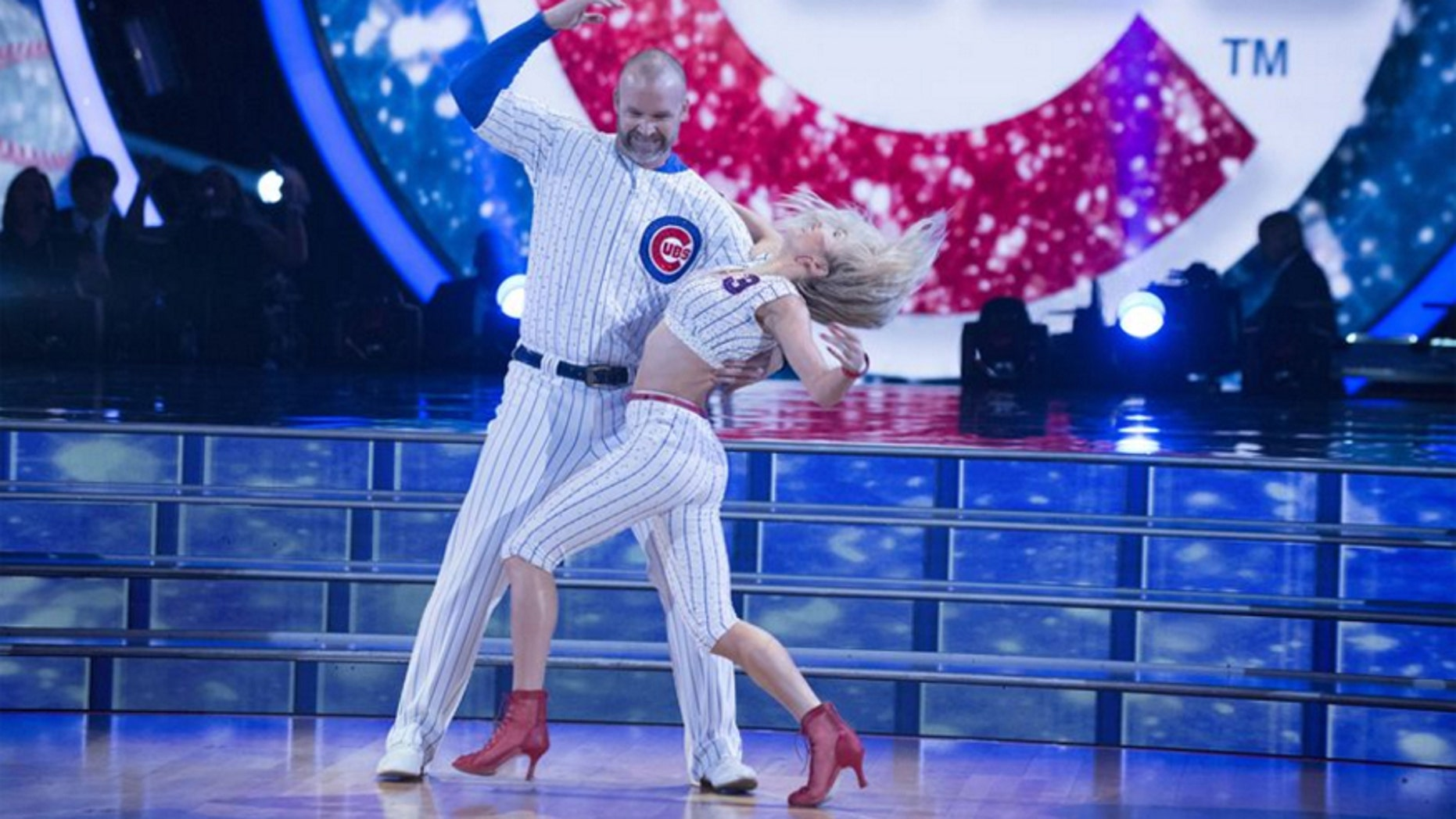 "David Ross performs with his partner Lindsay Arnold on ""Dancing with the Stars."""