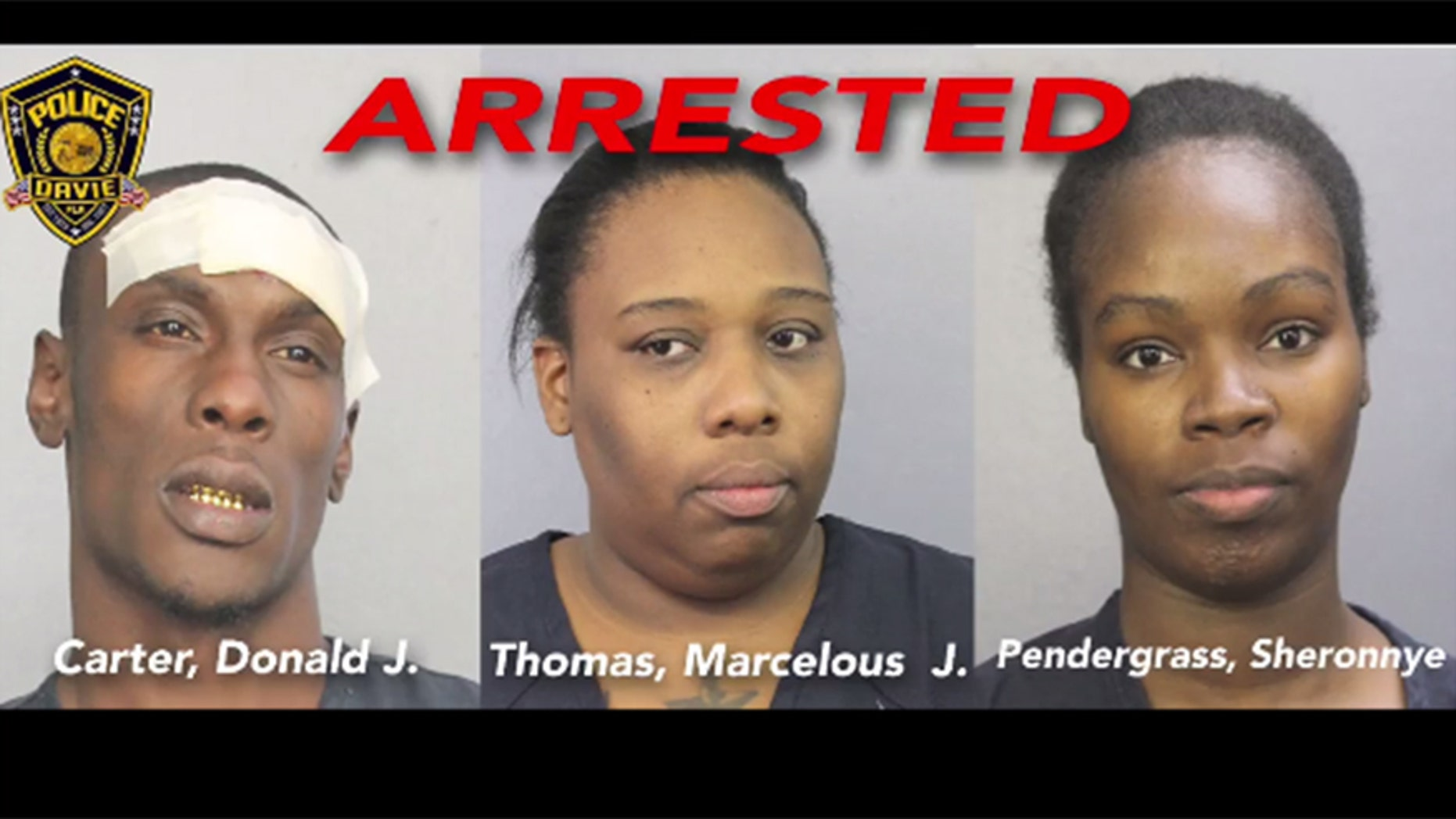 A shoplifting attempt at a Best Buy in Davie, Fla., ended with three arrests.