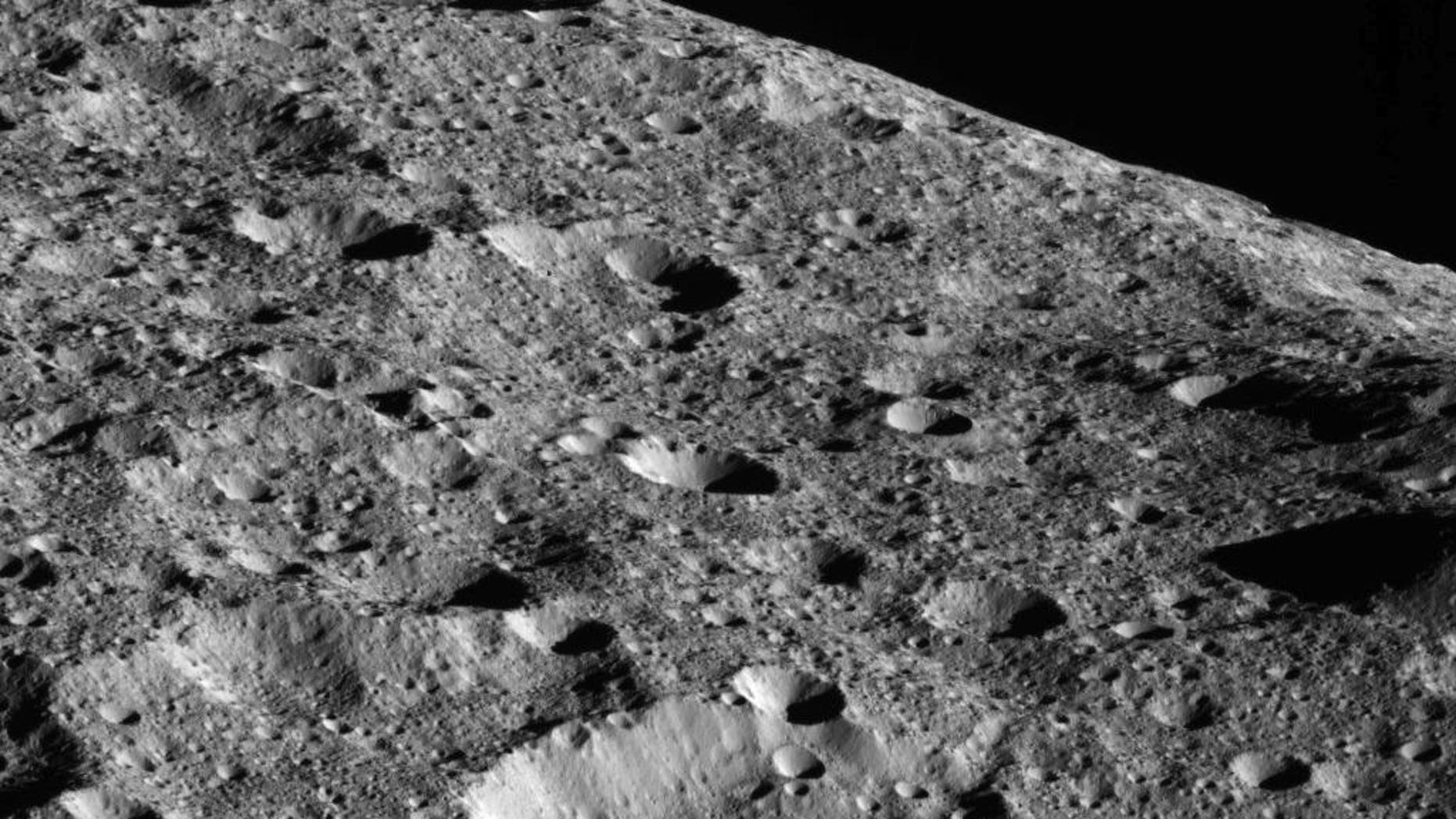 NASA's Dawn spacecraft captured this photo of Ceres on May 16, 2018, as it approached its lowest orbit ever of the dwarf planet in the asteroid belt. At the time of this photo, Dawn was about 270 miles (440 kilometers) from Ceres.