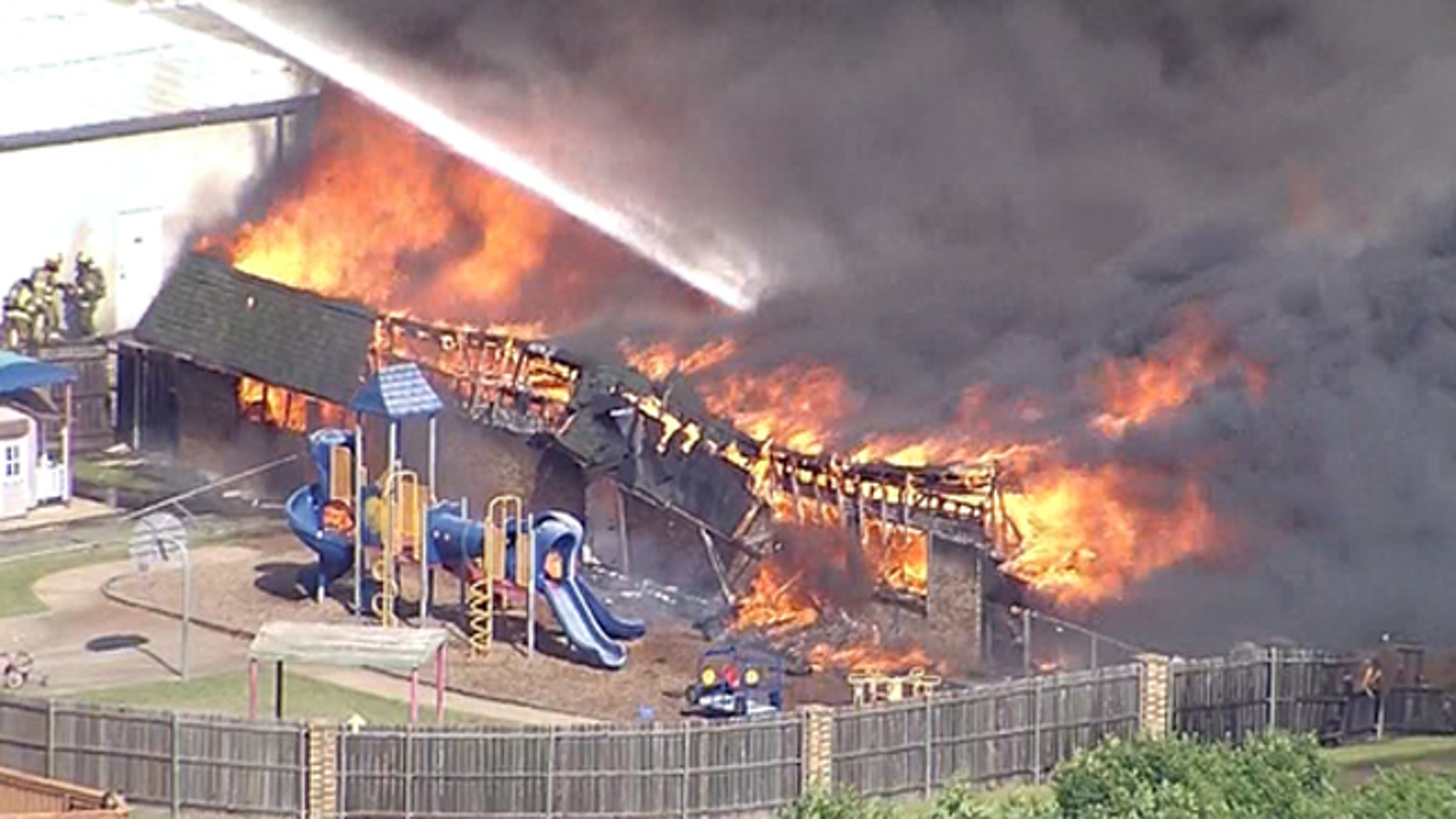Gusty winds likely fueled a fire at a Christian school and childcare center in Texas.