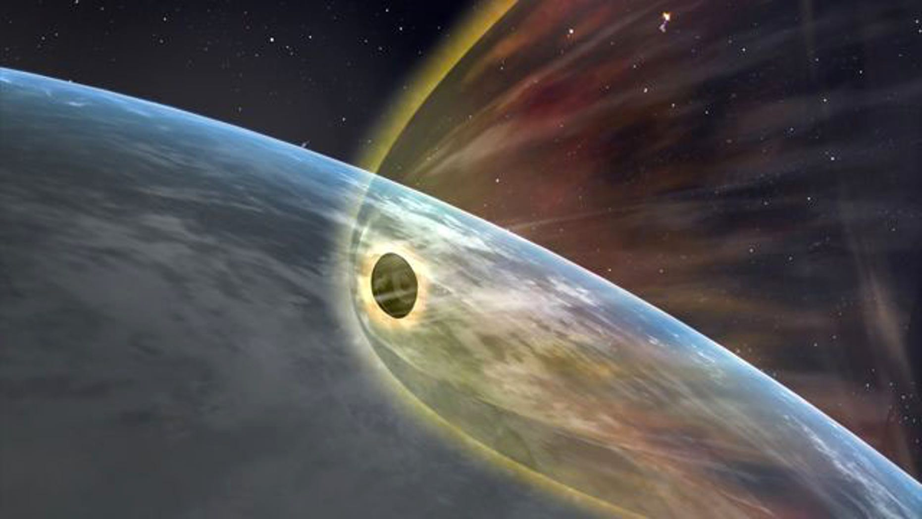 An artist's illustration of the sample return capsule from Japan's Hayabusa asteroid probe returning to Earth on June 13, 2010 to end its 7-year mission.