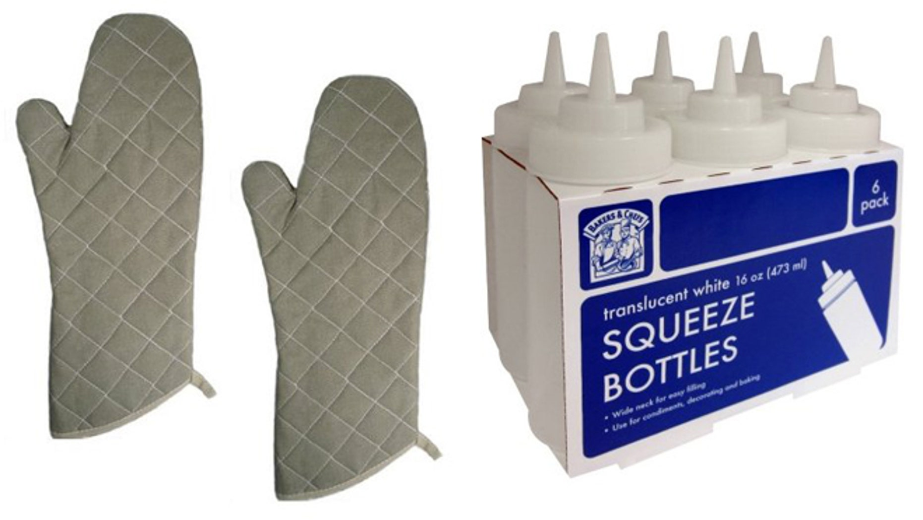 Heat resistant oven mitts and squeeze bottles aren't just for restaurant kitchens.
