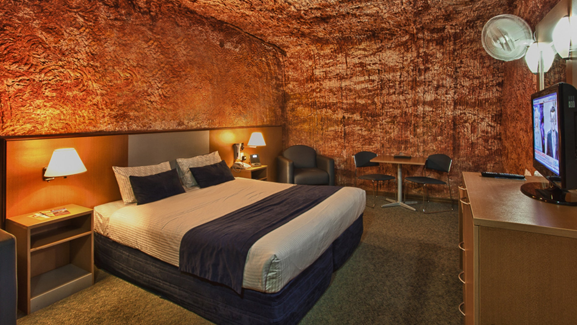 Underground places to stay in the Desert Cave Hotel, Australia