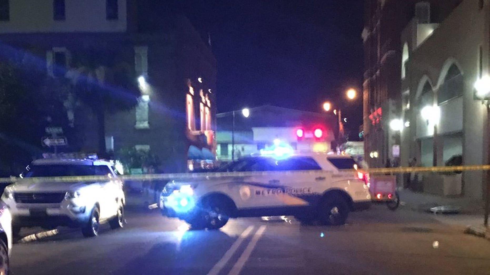 Police in downtown Savannah.