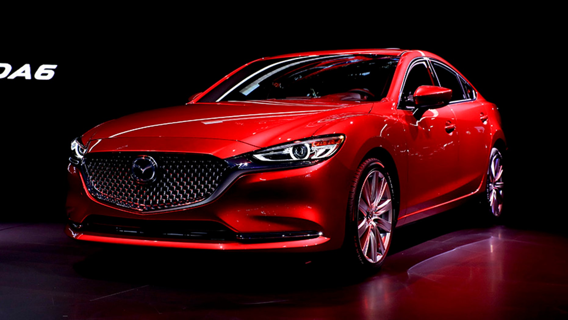 The 2018 Mazda 6 is introduced during the Los Angeles Auto Show, Wednesday, Nov. 29, 2017, in Los Angeles. (AP Photo/Chris Carlson)