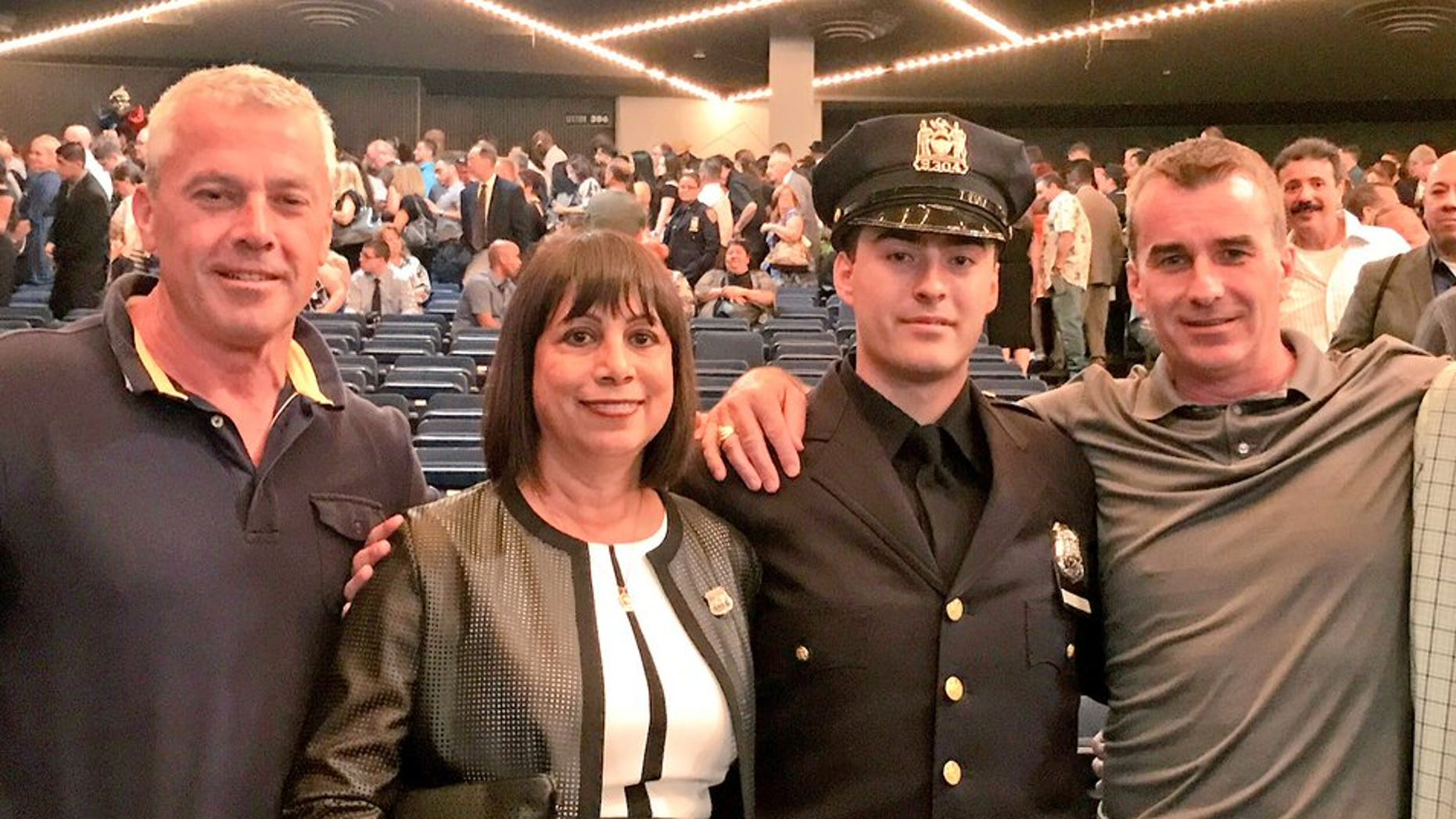 Four generations of Donnellans joined the NYPD force. Ryan Donnellan graduated from the Police Academy on Thursday. (NYPD Det. James Byrne/Twitter)