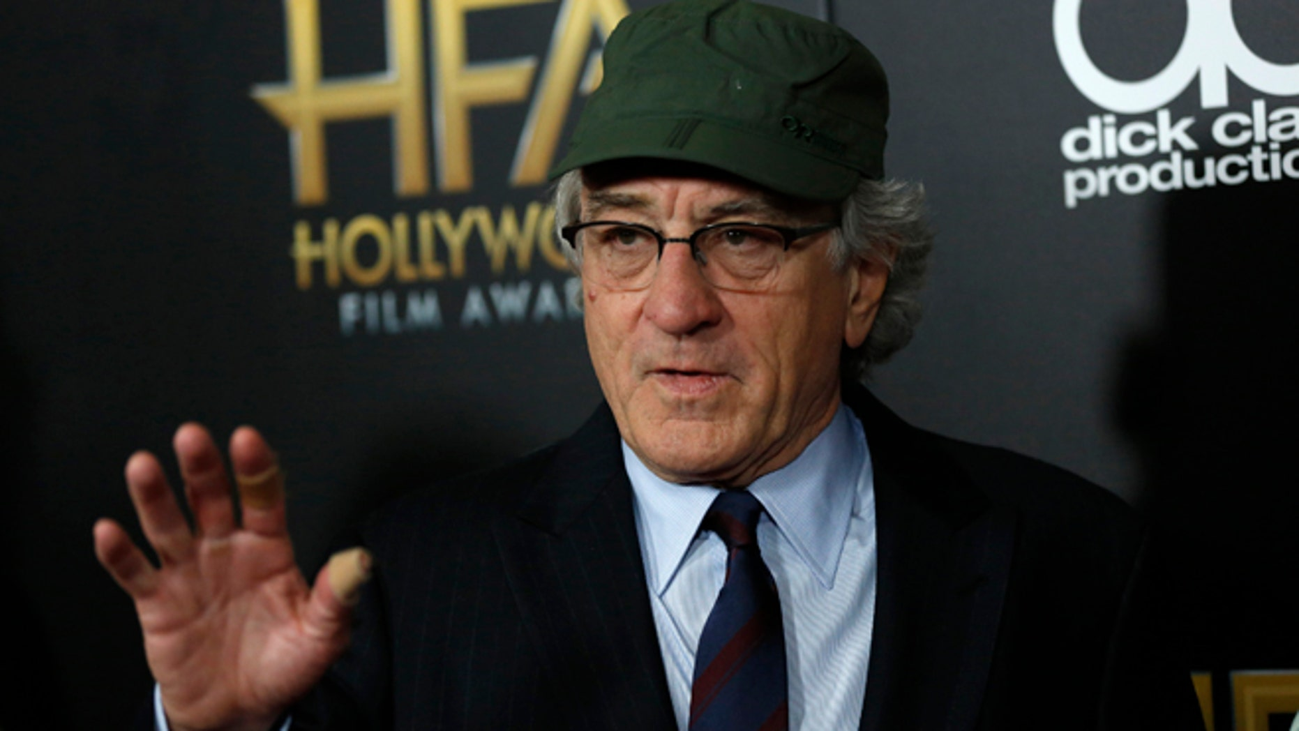 November 1, 2015. Actor Robert De Niro arrives at the Hollywood Film Awards in Beverly Hills, California.