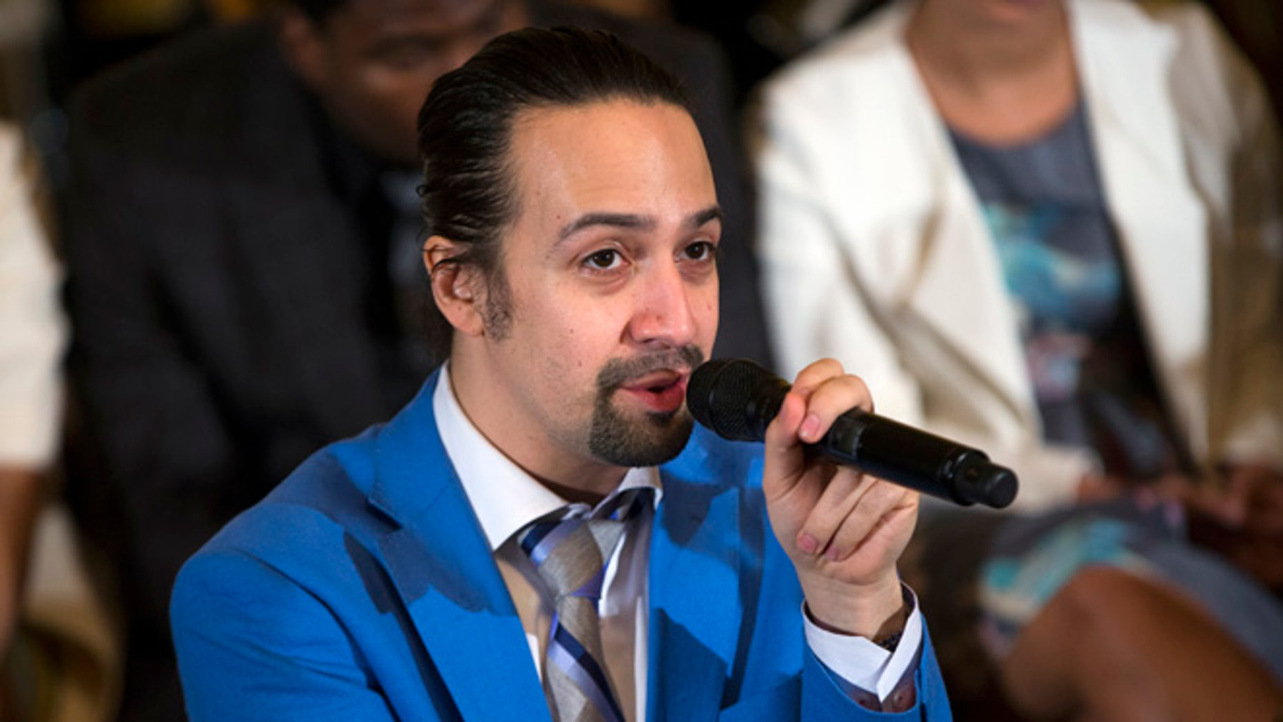 Lin-Manuel Miranda in the East Room of the White House, on Monday, March 14, 2016.