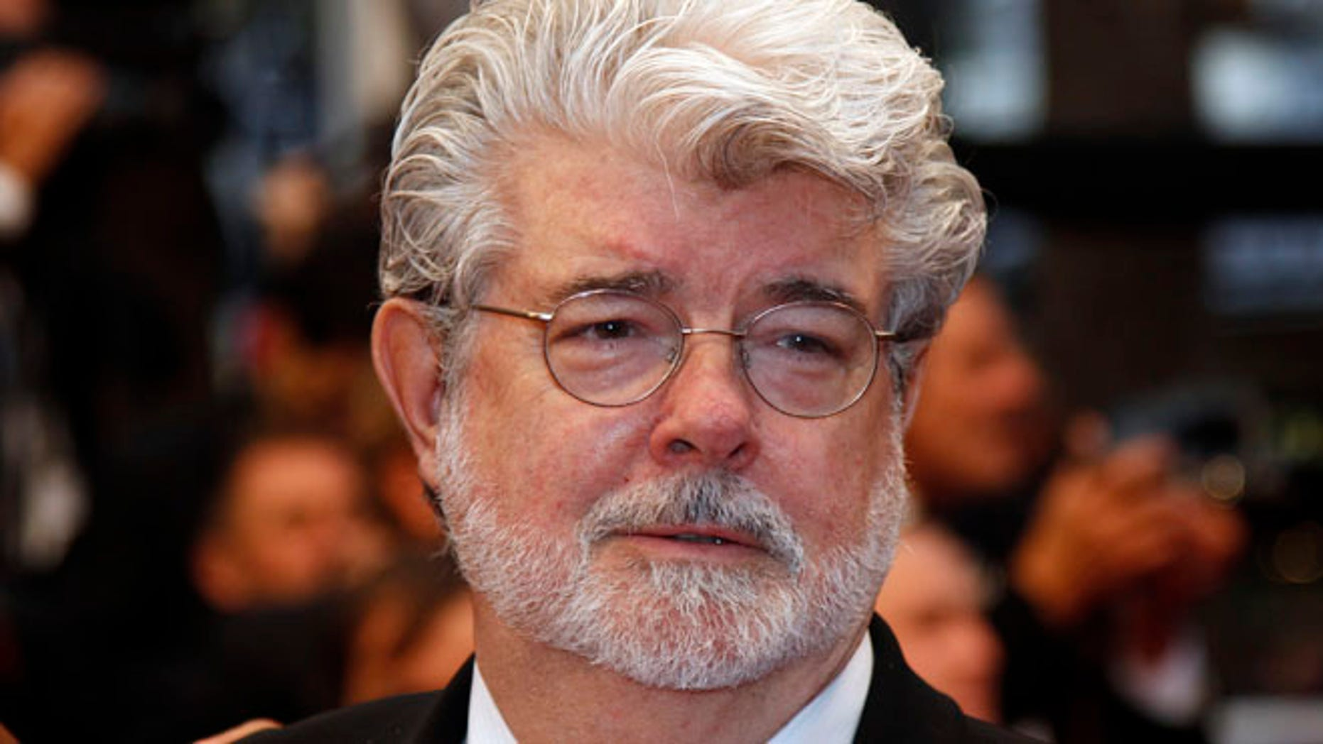 """May 25, 2012: Director George Lucas arrives on the red carpet ahead of the screening of the film """"Cosmopolis"""" in competition at the 65th Cannes Film Festival."""