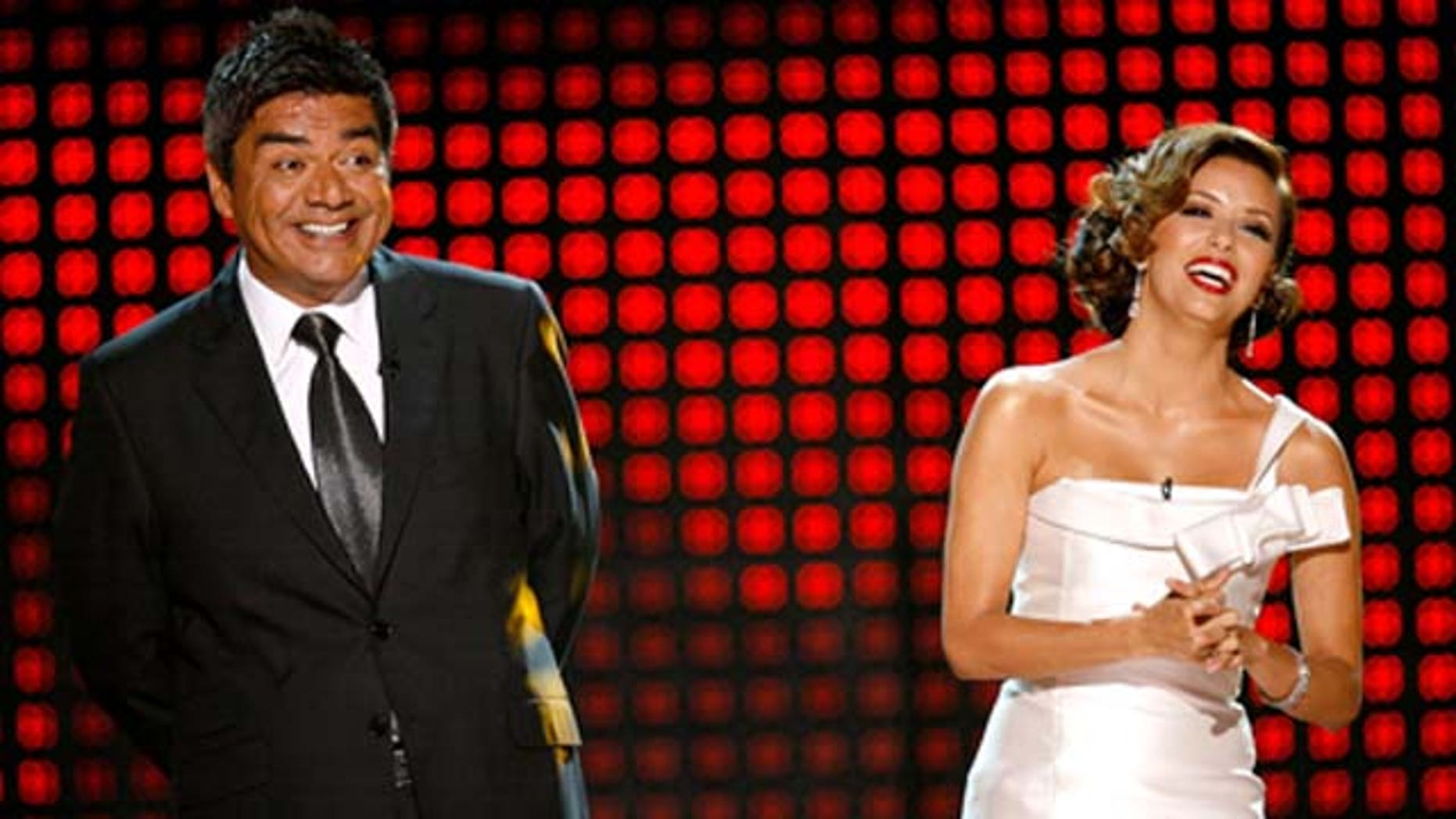 September 17, 2009: George Lopez and Eva Longoria appear onstage at the 2009 ALMA Awards held at Royce Hall in Los Angeles, Calif.