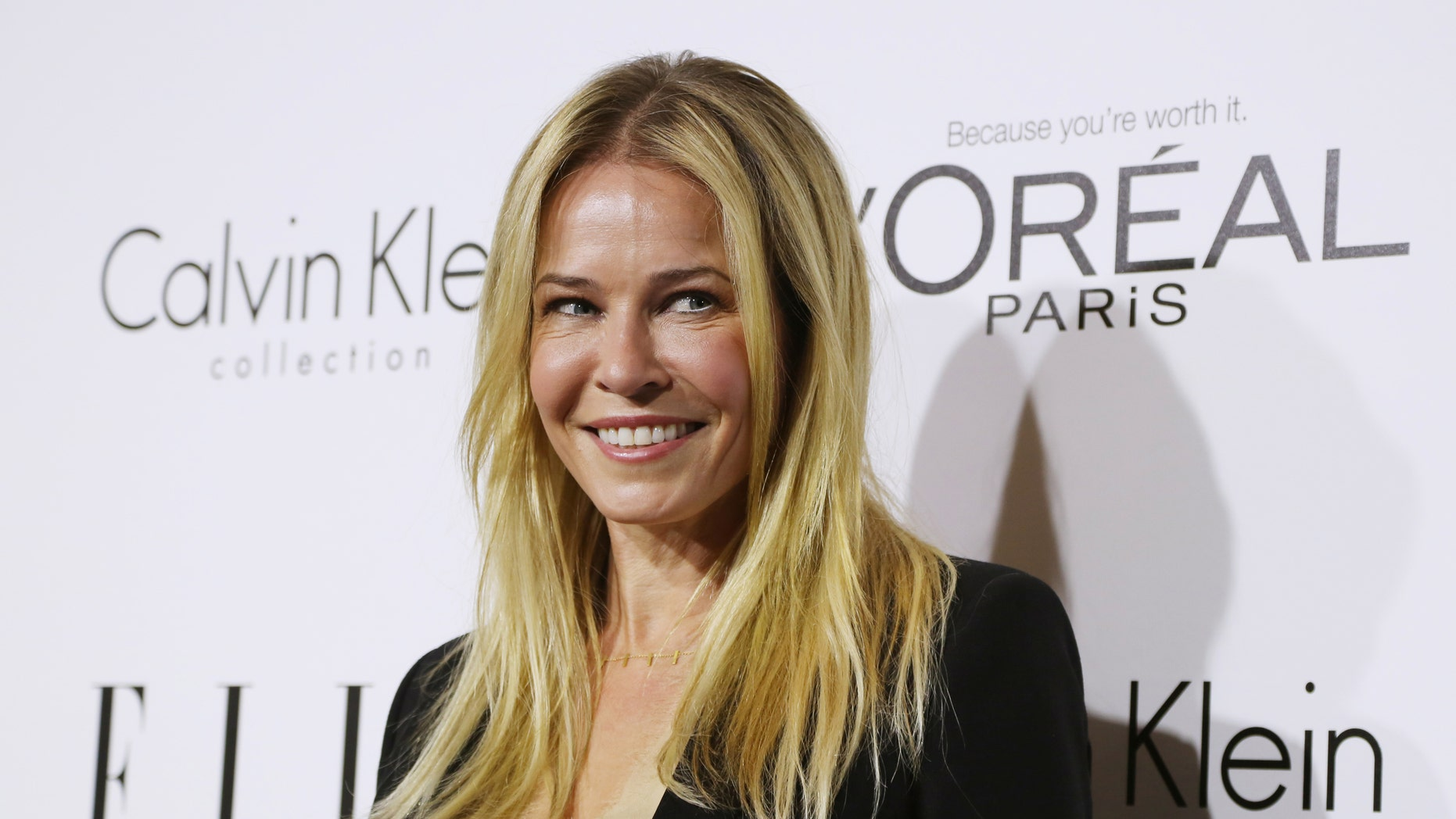 October 21, 2013. Talk show host and actress Chelsea Handler arrives as a guest at the 20th anniversary of ELLE Women in Hollywood event in Los Angeles.