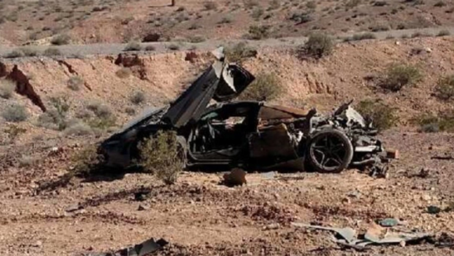 Nevada police find wrecked $300,000 McLaren supercar in the