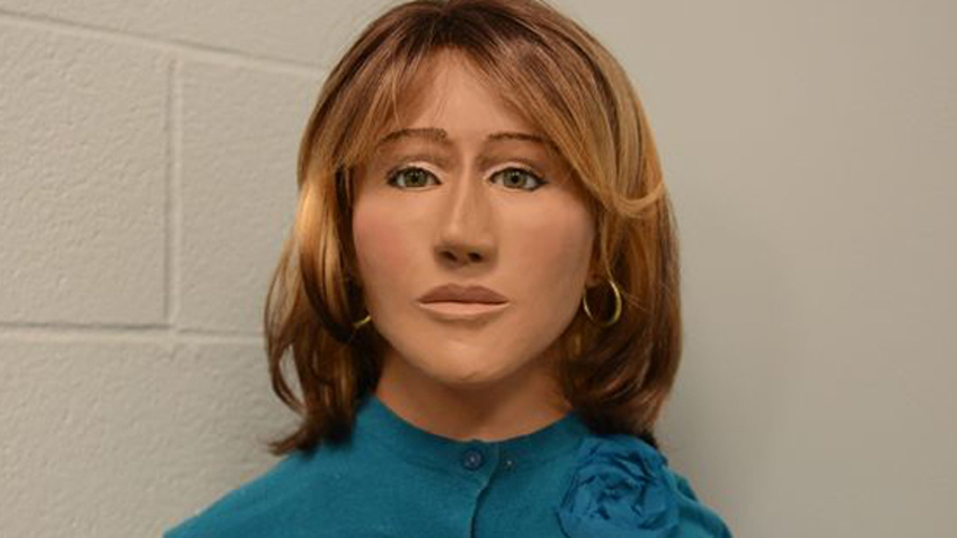 Police found the decaying remains of a dead woman in a secluded area in 1973. This is a reconstruction of how she may have looked.