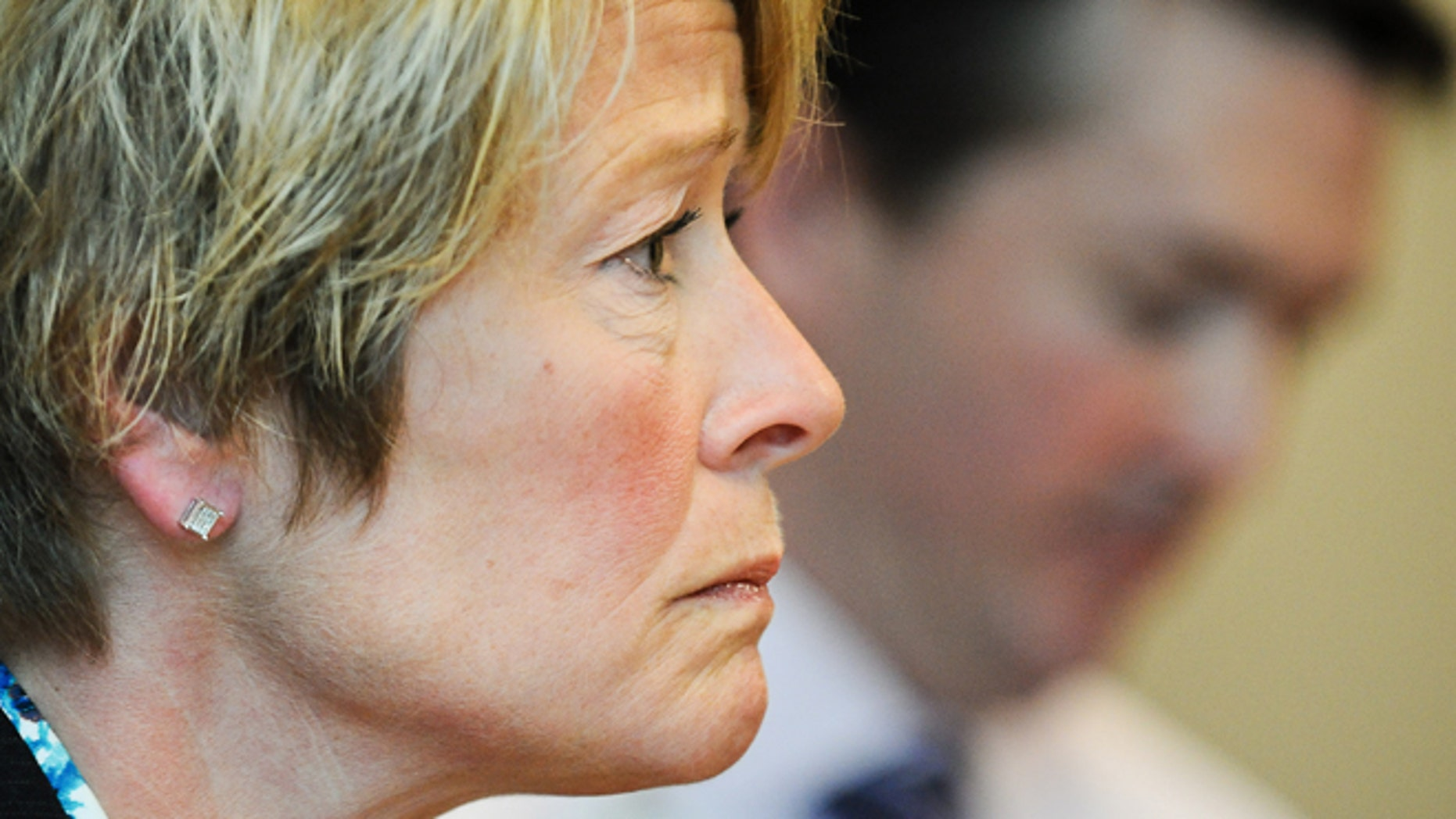 April 17, 2013: Chris Boese, Chief Nursing Office and Vice President of Patient Care at Regions Hospital, listens to a reporters question during a news conference at the hospital in St. Paul, Minn.