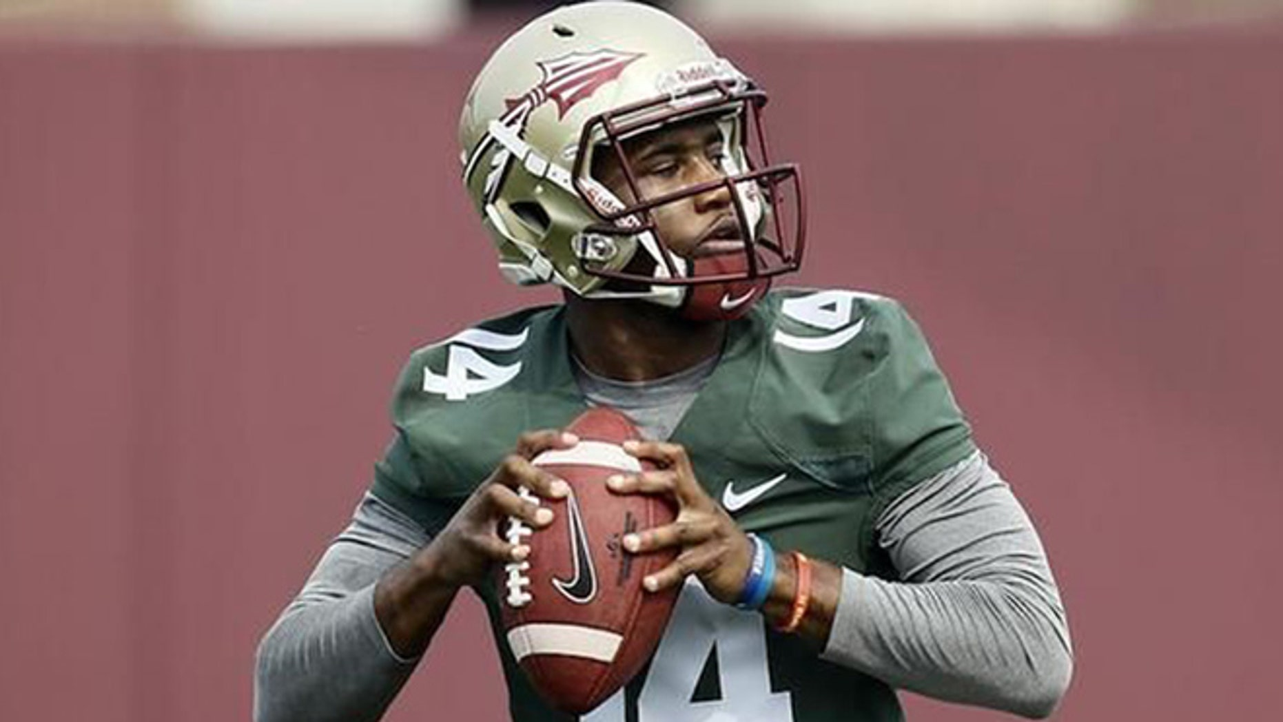 FSU freshman QB De'Andre Johnson is shown.