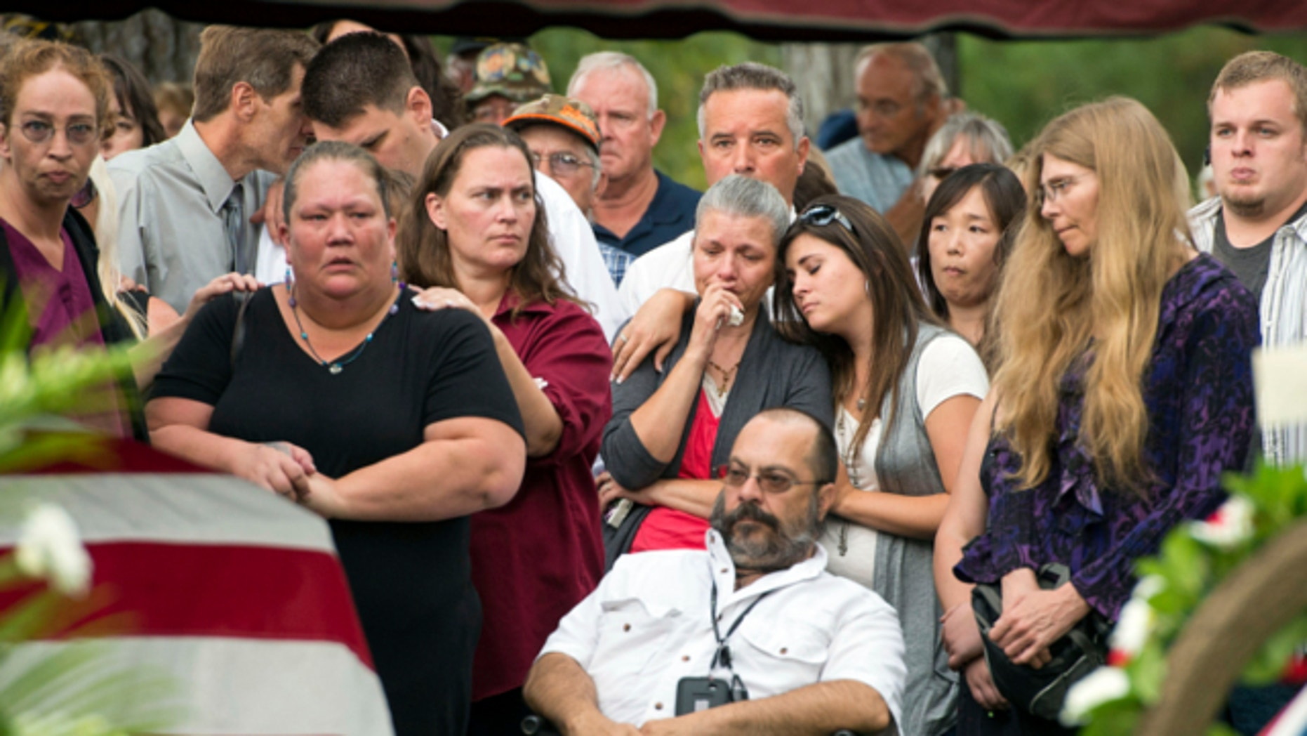 Aug. 29, 2013: With hundreds in attendance, Spokane veteran Delbert Belton is buried with full military honors during a public service at Greenwood Memorial Terrace in Spokane, Wash.