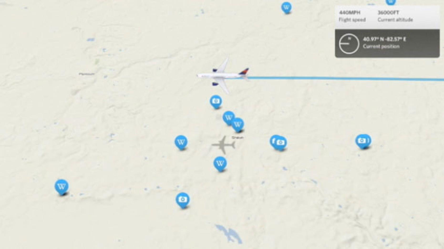Delta Airlines has released a new app for the iPad that allows you to see where you are in your journey.
