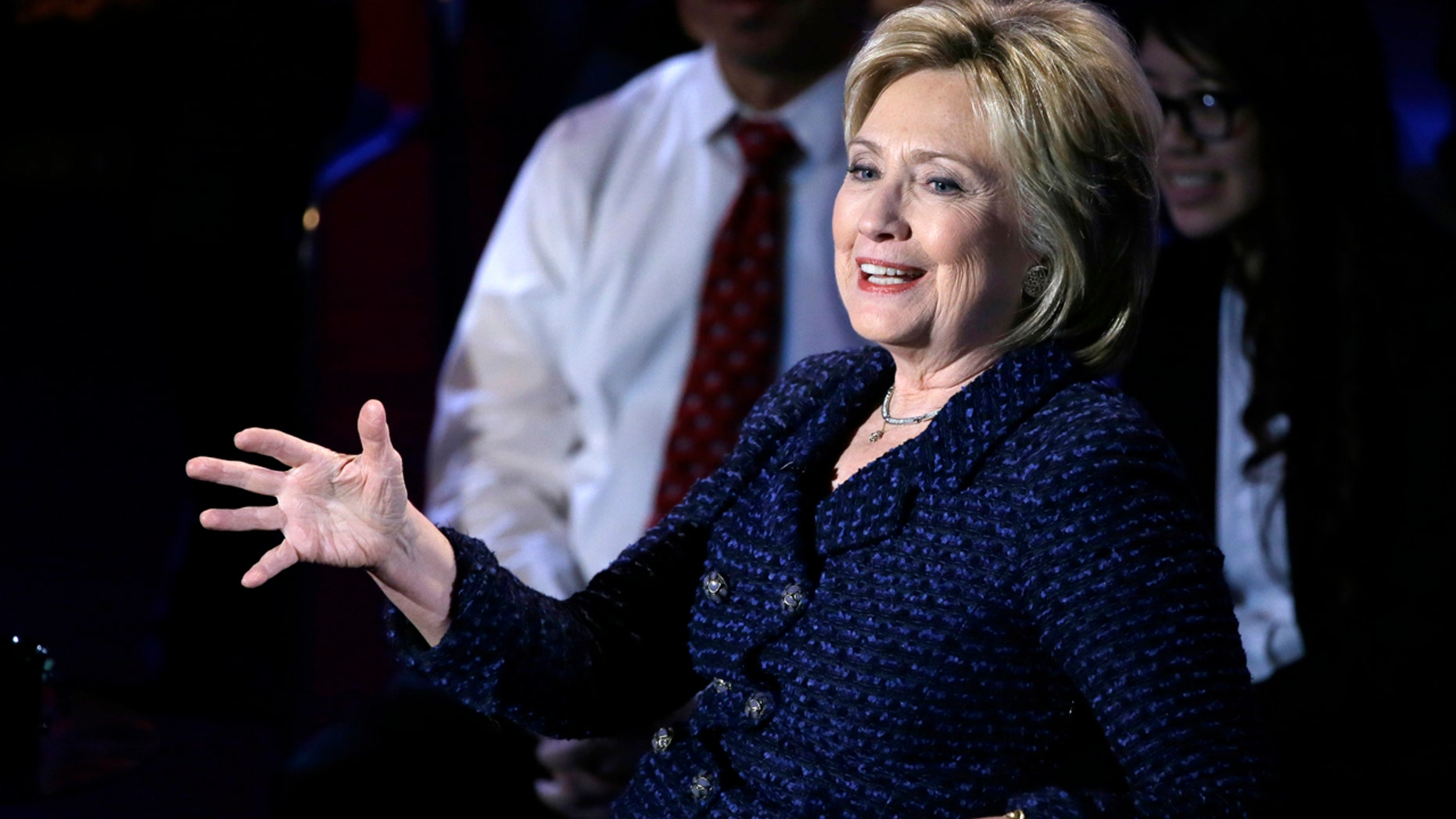 Democratic presidential candidate, Hillary Clinton speaks during the Brown & Black Forum, Monday, Jan. 11, 2016, in Des Moines, Iowa. (AP Photo/Charlie Neibergall)