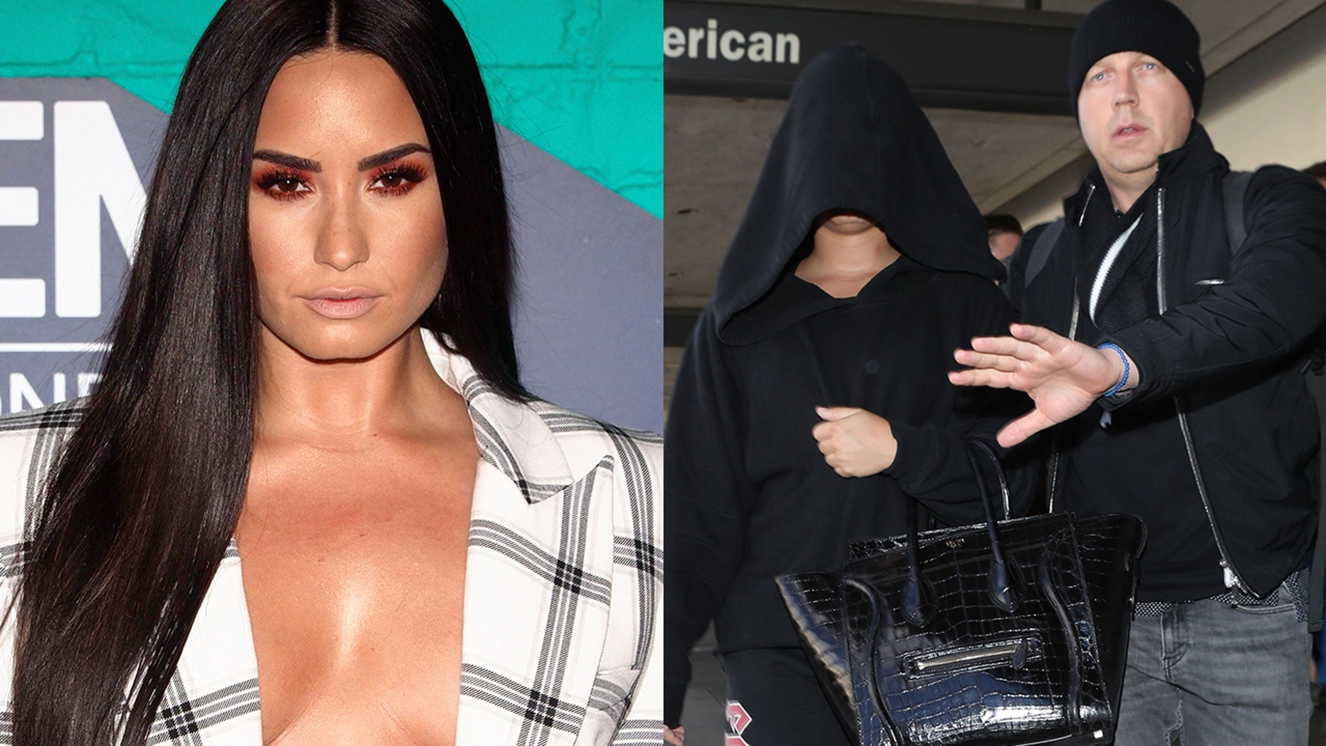 Demi Lovato came under fire for a prank she played on her bodyguard Max, left.