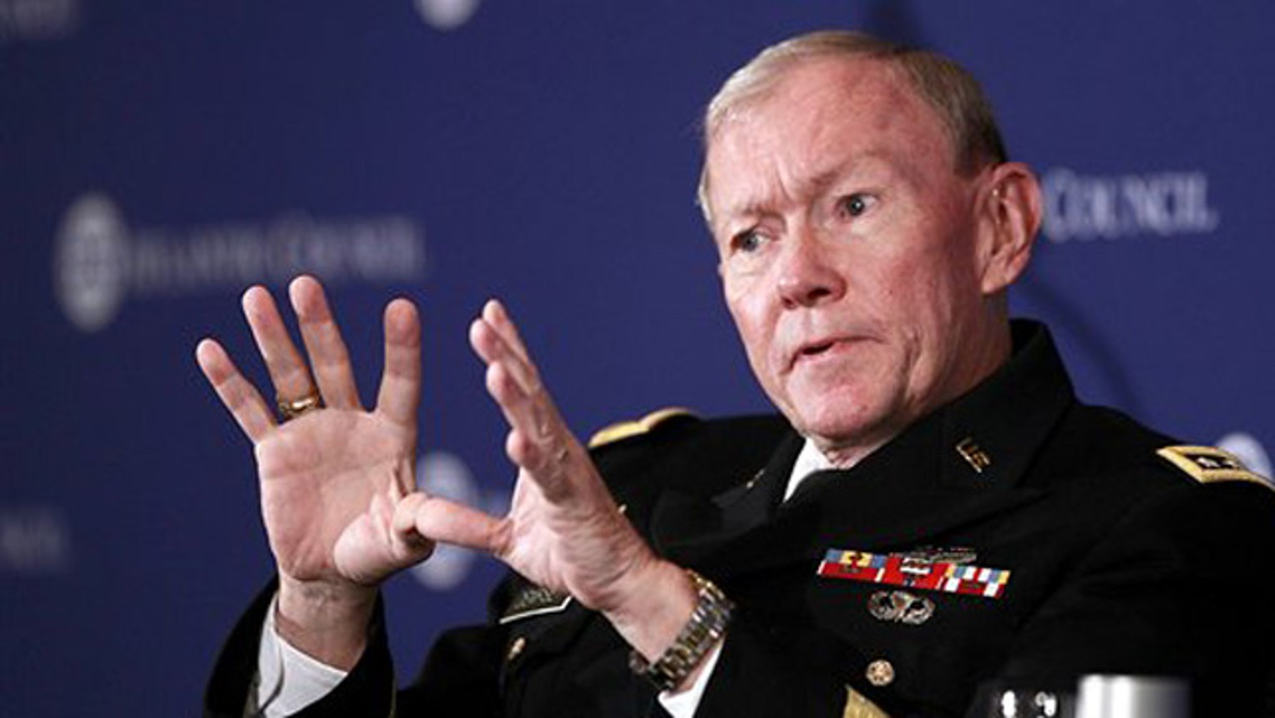 Dec. 9, 2011: Joint Chiefs Chairman Martin Dempsey speaks at the Atlantic Council in Washington.