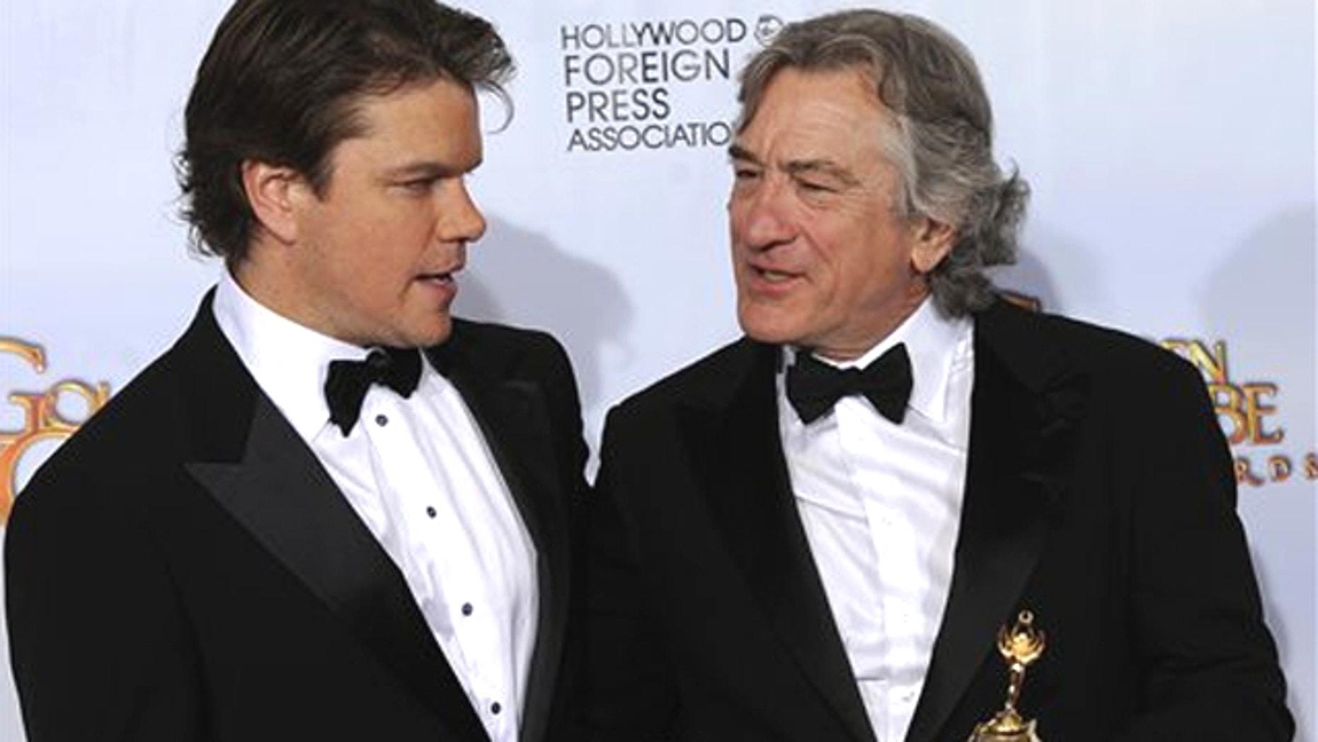 Matt Damon and Robert DeNiro. (AP)