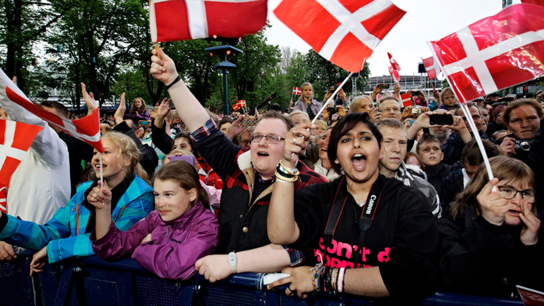 May. 19, 2013: People in Copenhagen, Denmark.