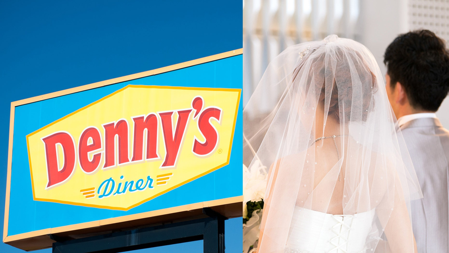 Denny's is letting couple in love get hitched at their Las Vegas chapel for less than $100 this Valentine's Day.