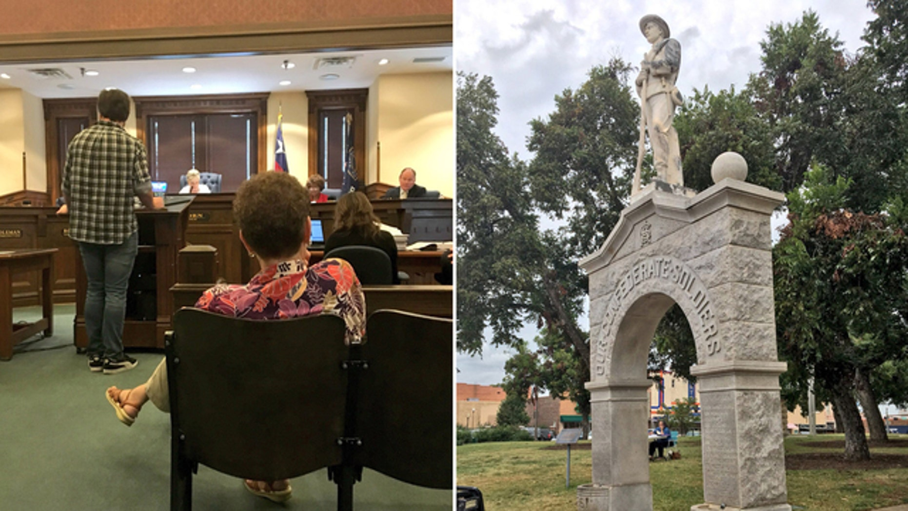 Denton County residents debated how to handle a Confederate monument on Tuesday.