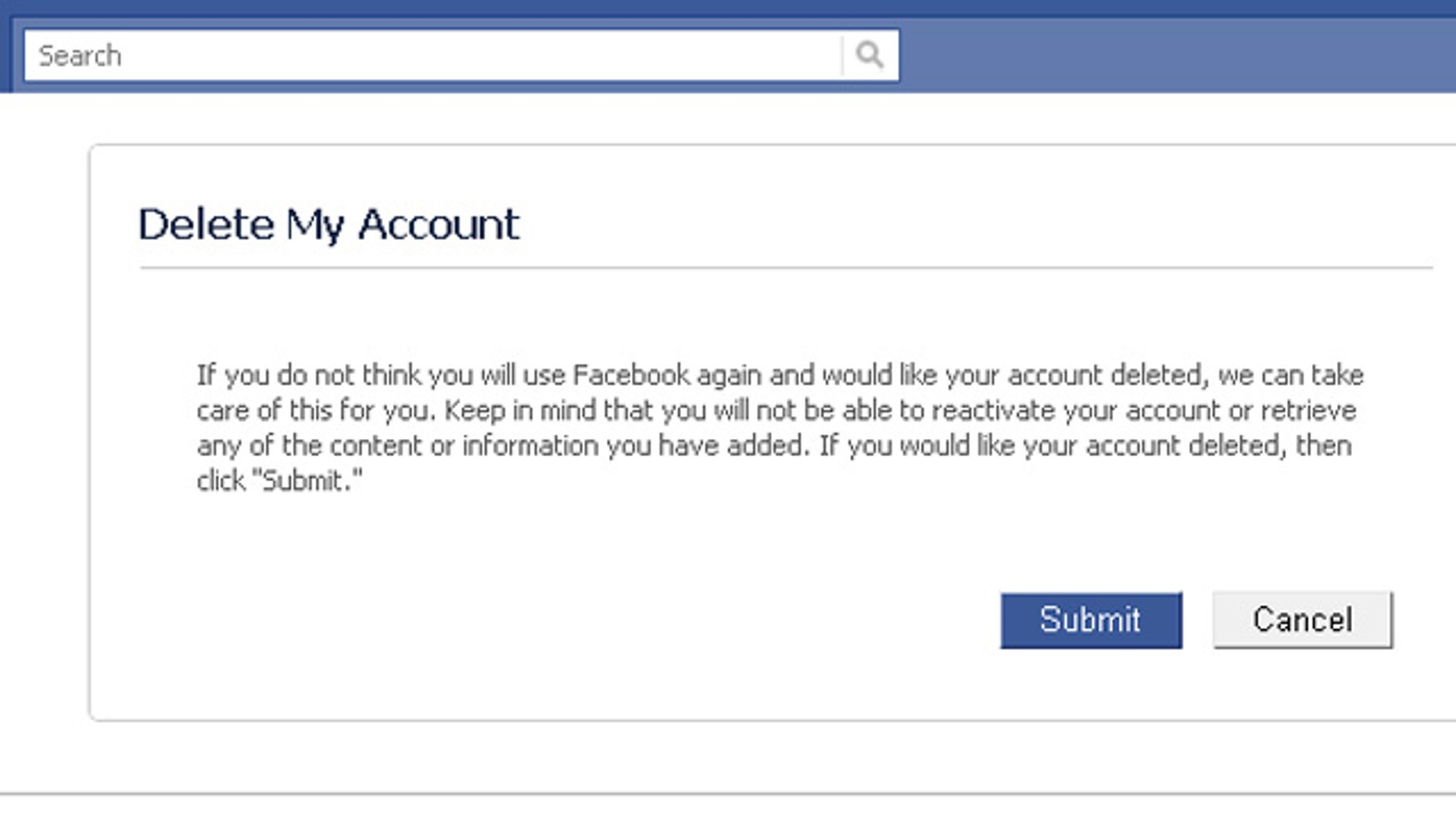 Delete your accounts with ease.