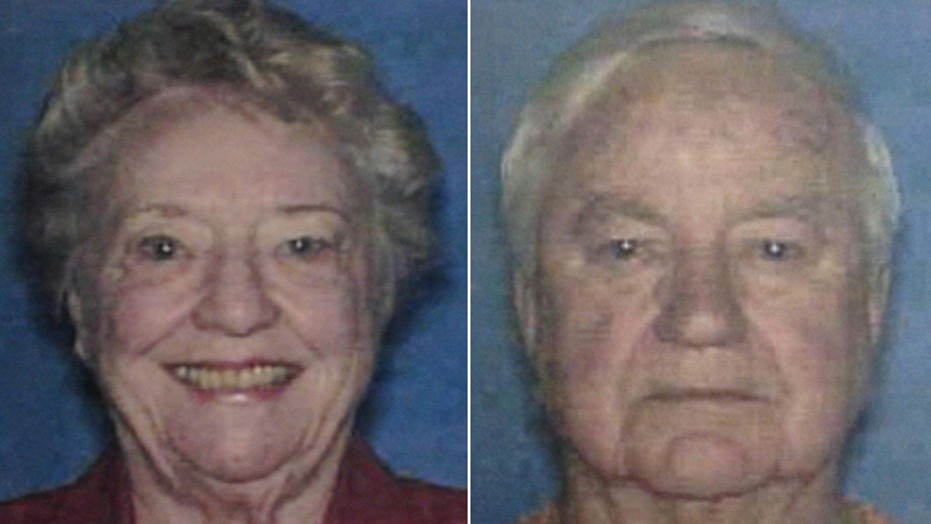 These undated photos made available by the Putnam County Sheriff's Office, Ga., show Russell Dermond, 88, and his wife Shirley Russell Dermond, 87, who were murdered in their home in Lake Oconee, Ga. (AP/Putnam County Sheriff's Office, HO)