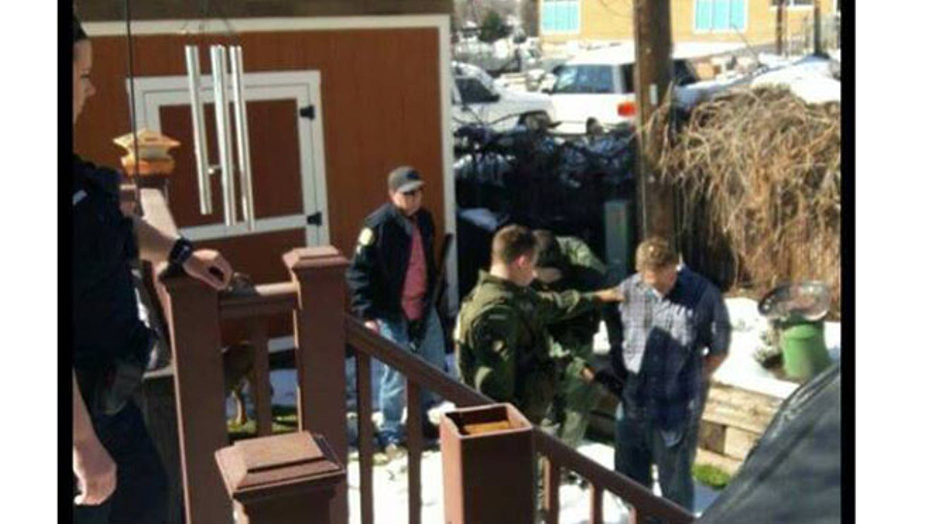 Police reported the capture of a fugitive who ran into a SWAT Team and K9 units in training in Provo, Utah, Thursday.